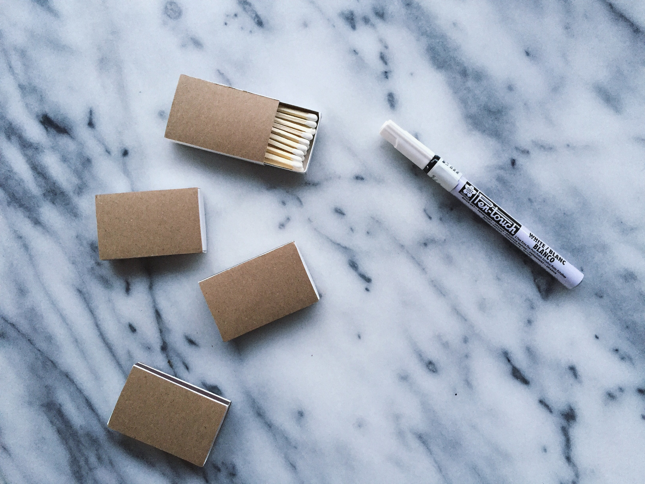 DIY Typography Match Boxes | All Purpose Flour Child
