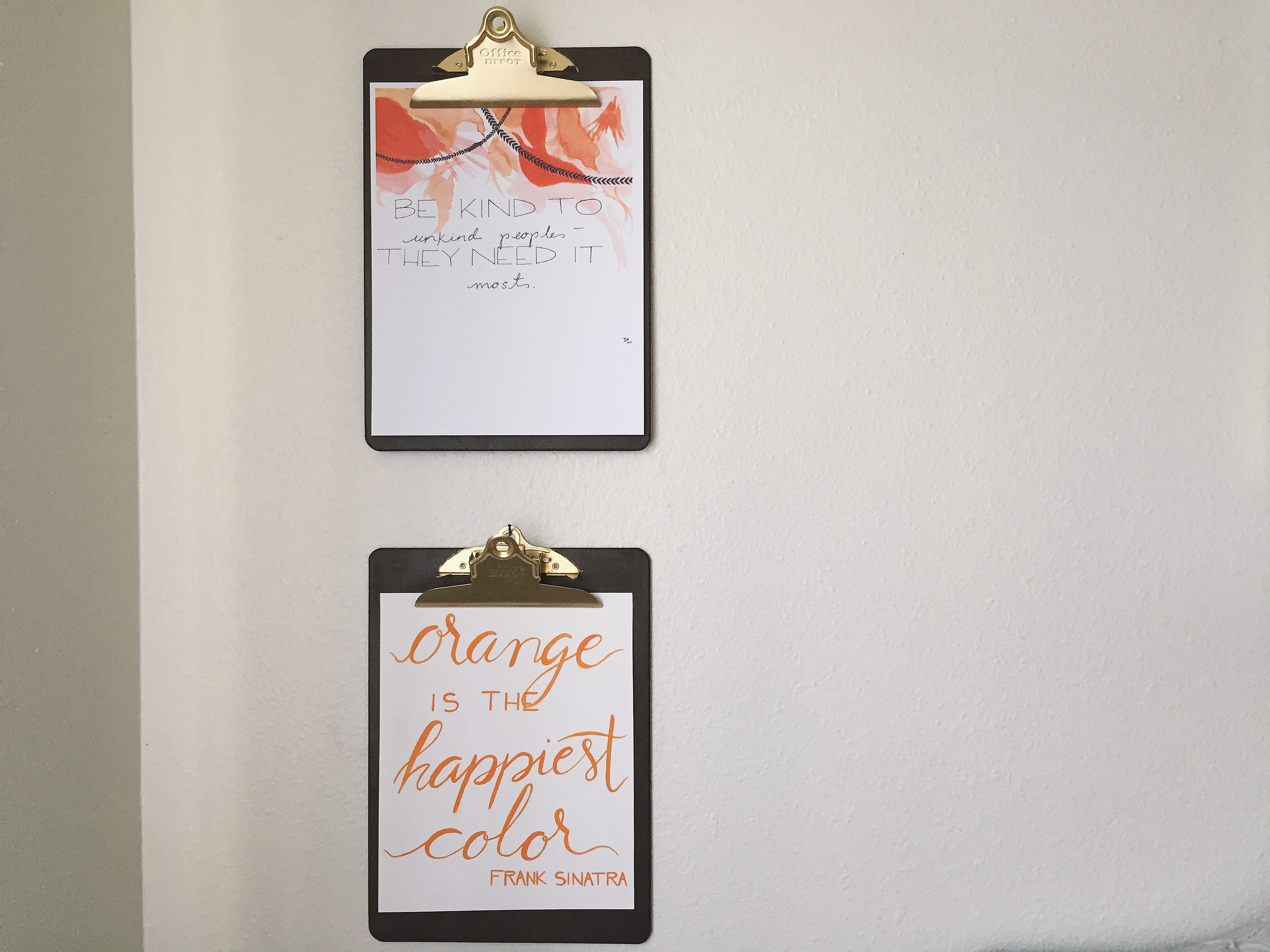 DIY Clipboard Picture Frame | All Purpose Flour Child