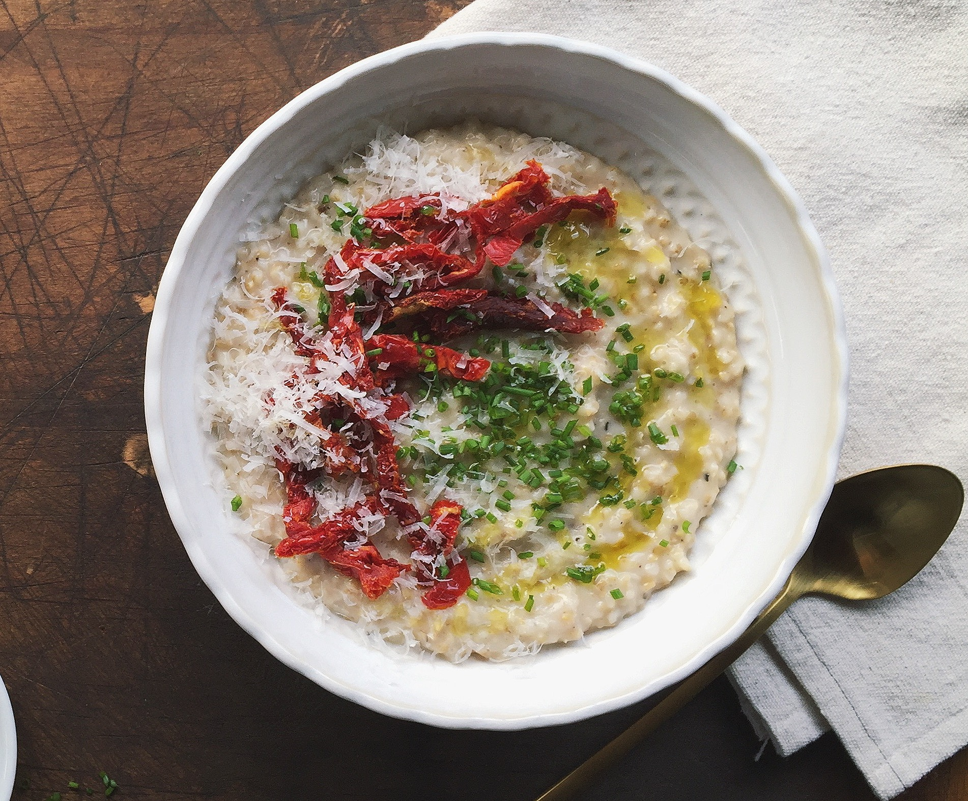 Savory Parmesan Oatmeal | All Purpose Flour Child
