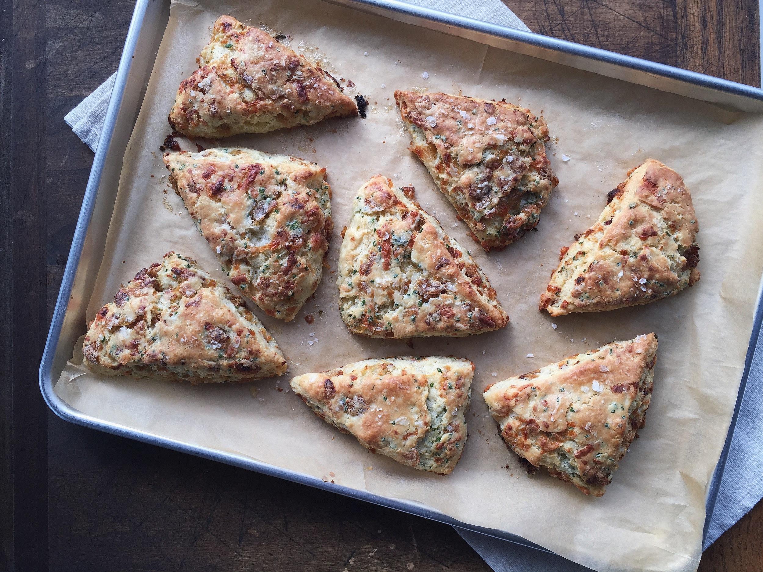 Caramelized Onion + Gruyere Scones   All Purpose Flour Child