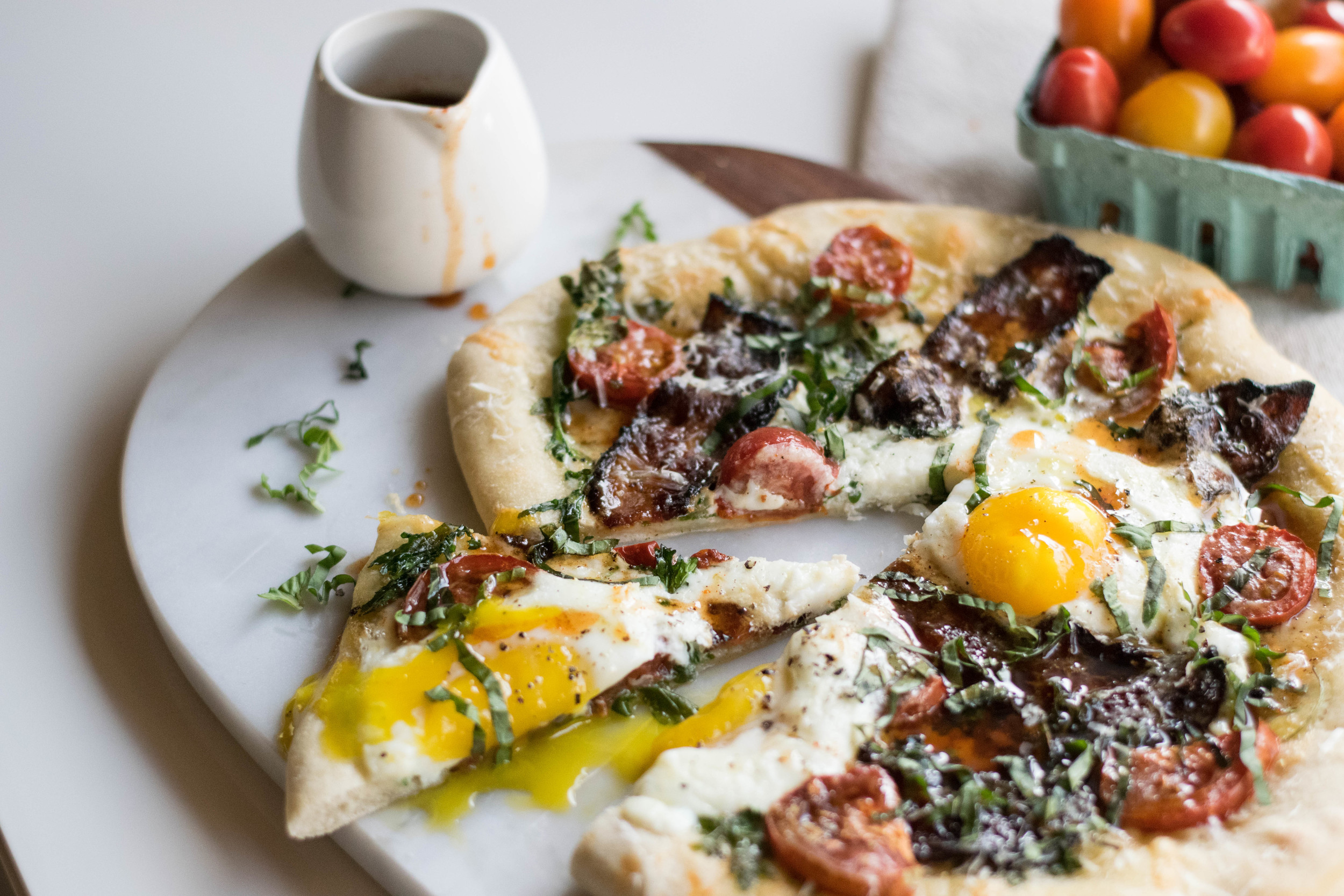 Put An Egg On It | Breakfast Pizzas with Bacon + Maple Lemon Drizzle | All Purpose Flour Child