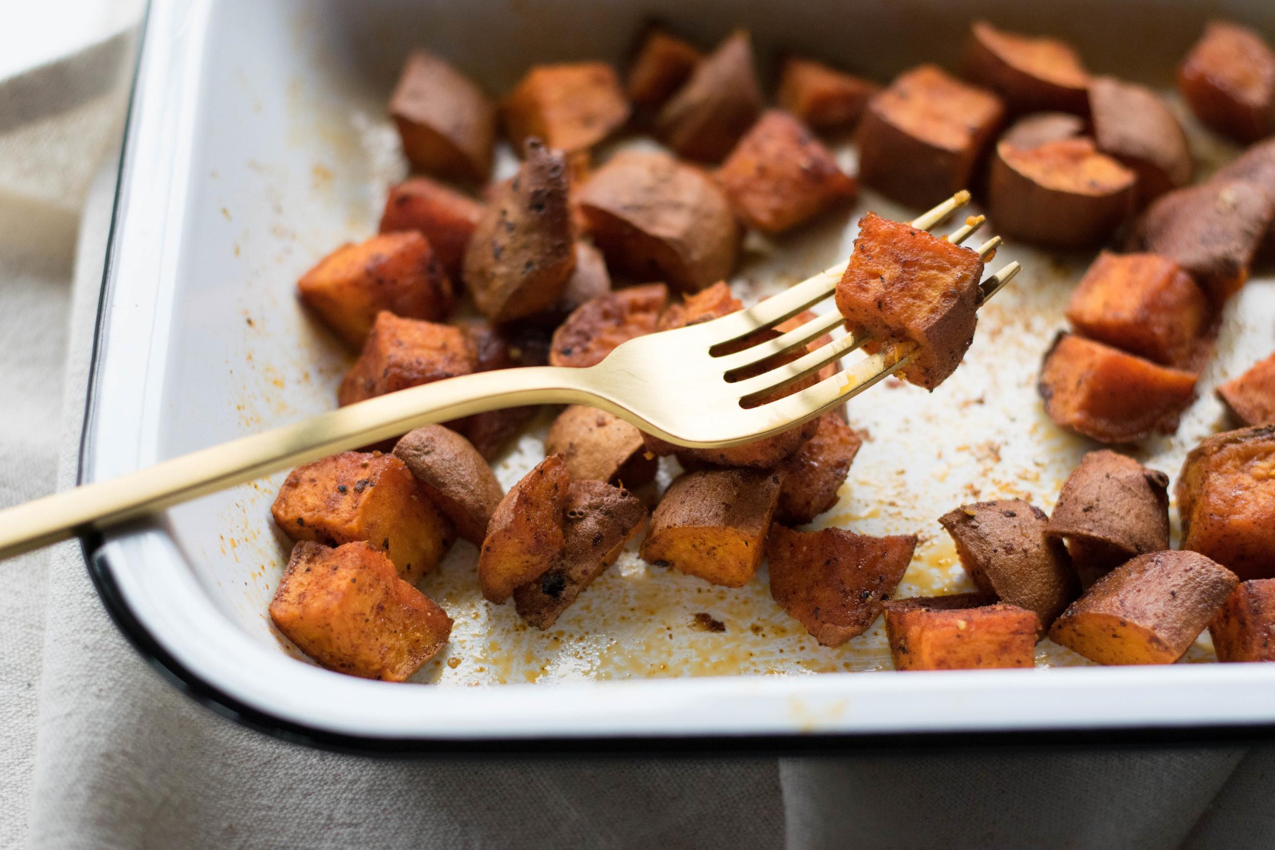 Simple Roast Sweet Potatoes | All Purpose Flour Child