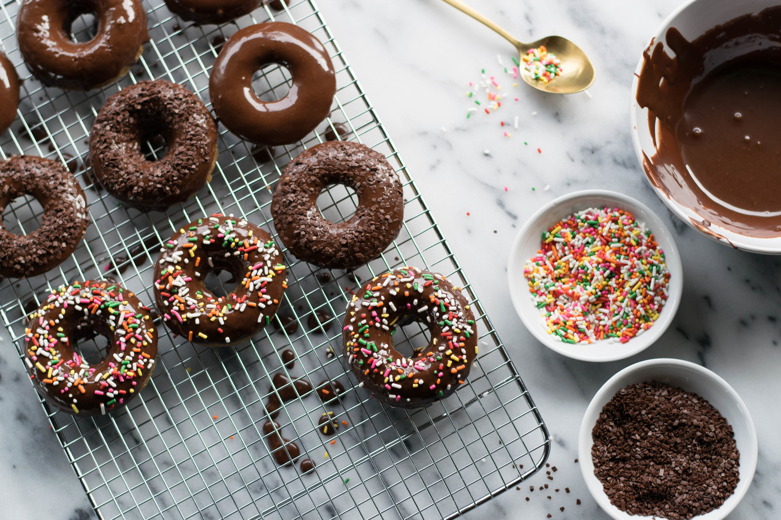 Chocolate + Espresso Baked Doughnuts | All Purpose Flour Child