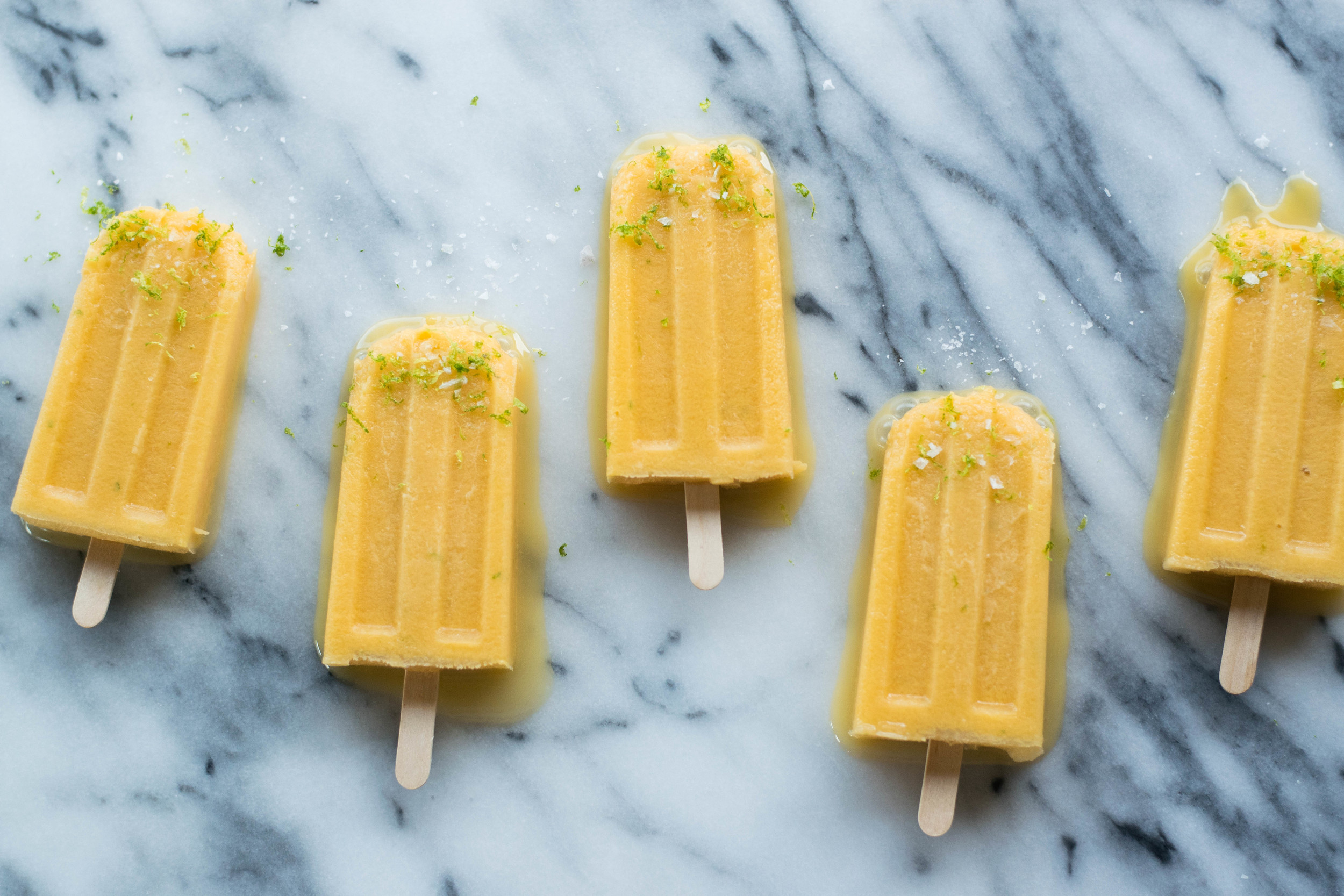 Salted Cantaloupe + Lime Paletas | All Purpose Flour Child