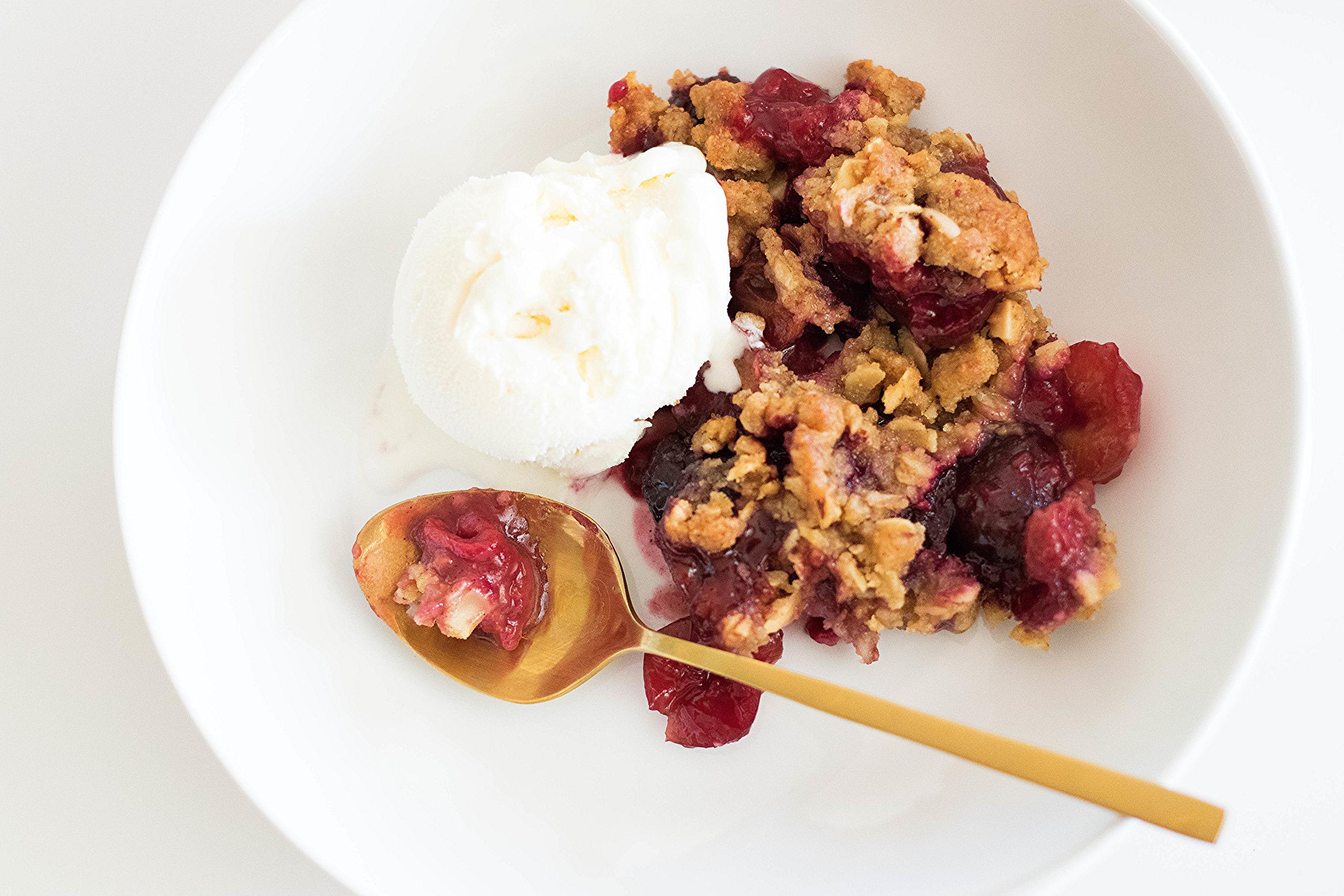Cherry Raspberry + Almond Crumble | All Purpose Flour Child