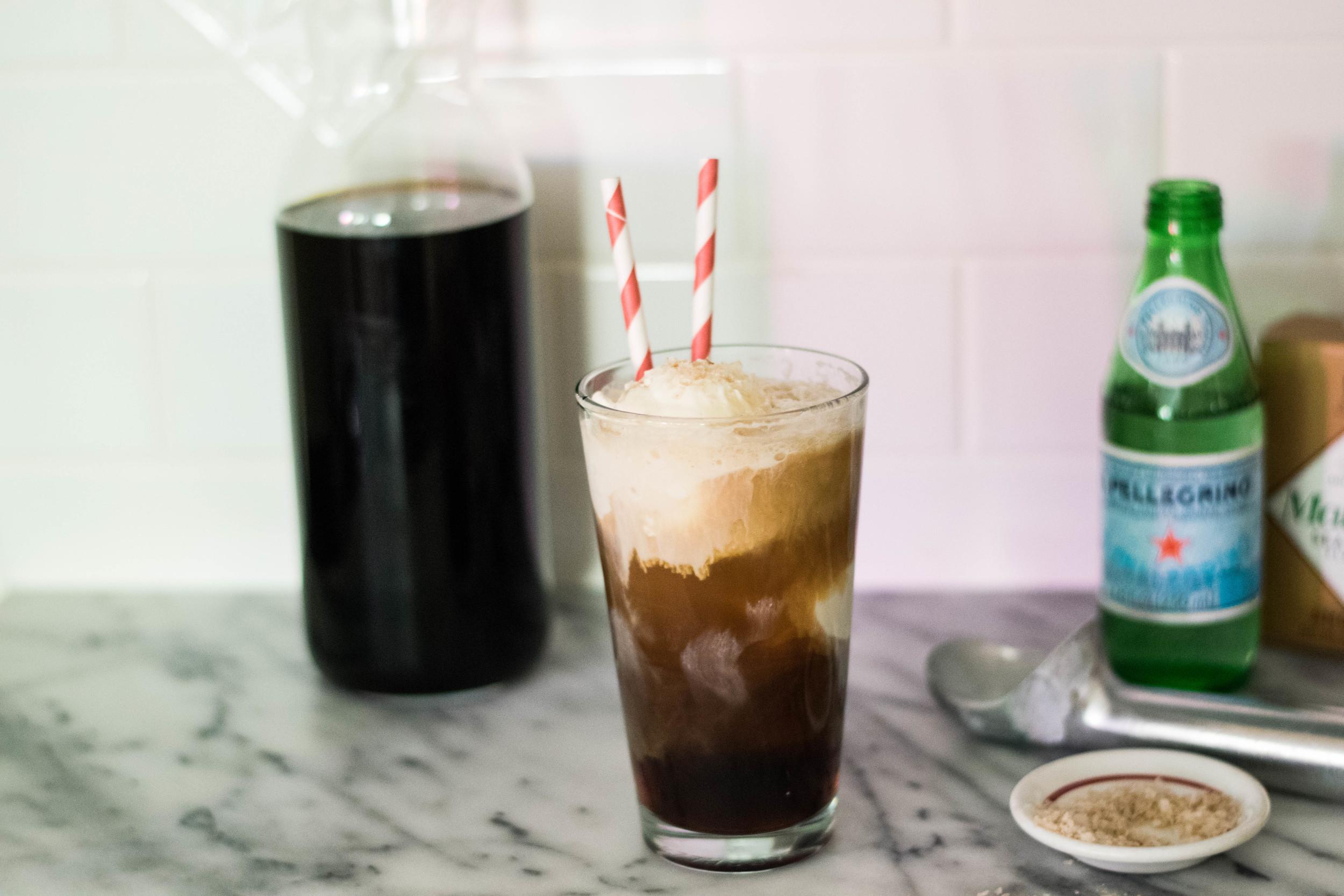 Smoked Sea Salt + Vanilla Coffee Float | All Purpose Flour Child