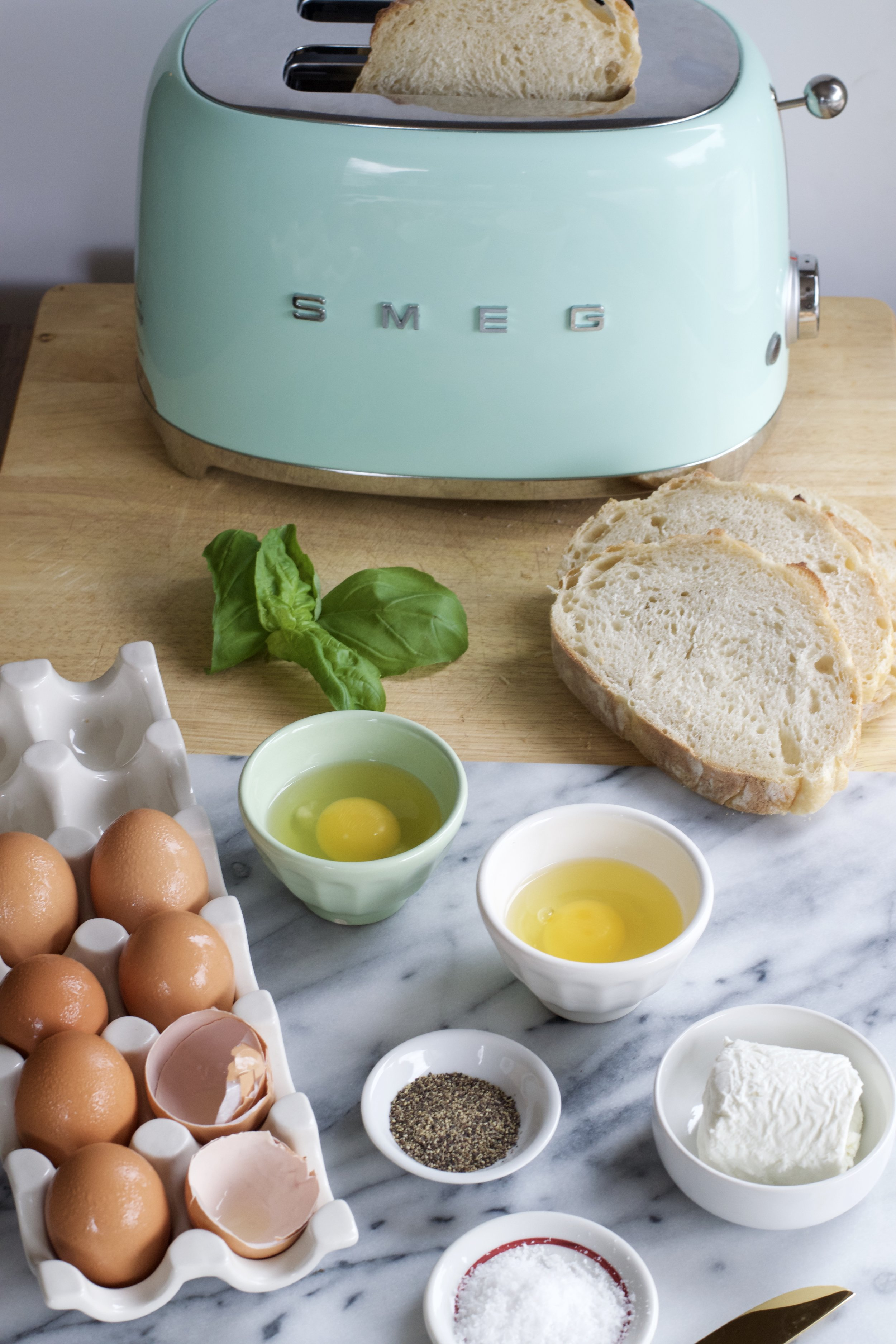 Poached Eggs and Chèvre on Toast | All Purpose Flour Child