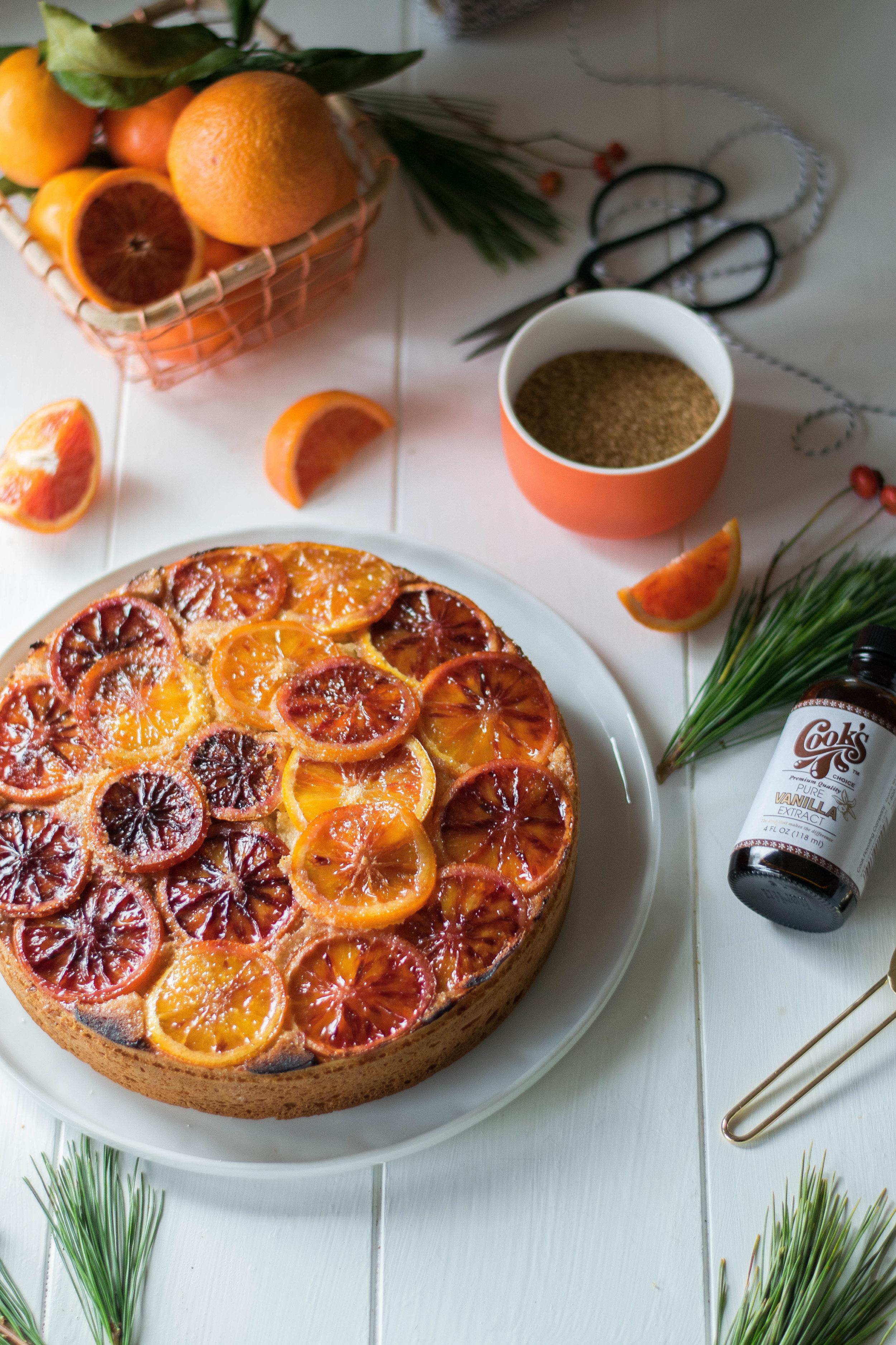 Brûléed Vanilla + Blood Orange Christmas Coffee Cake // Sponsored by Cook Flavoring Company | All Purpose Flour Child