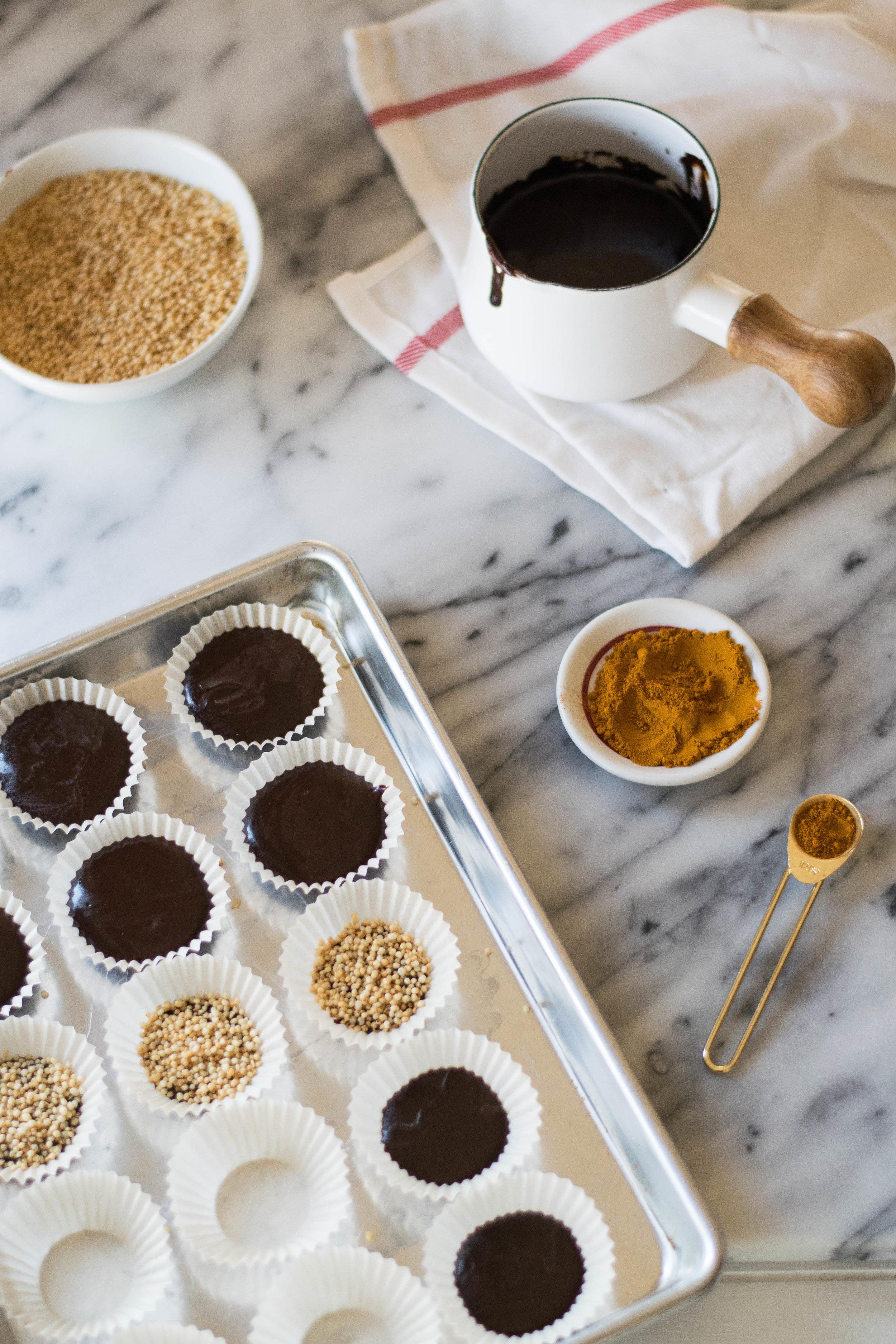 Golden Milk Chocolate Crunch Cups | All Purpose Flour Child