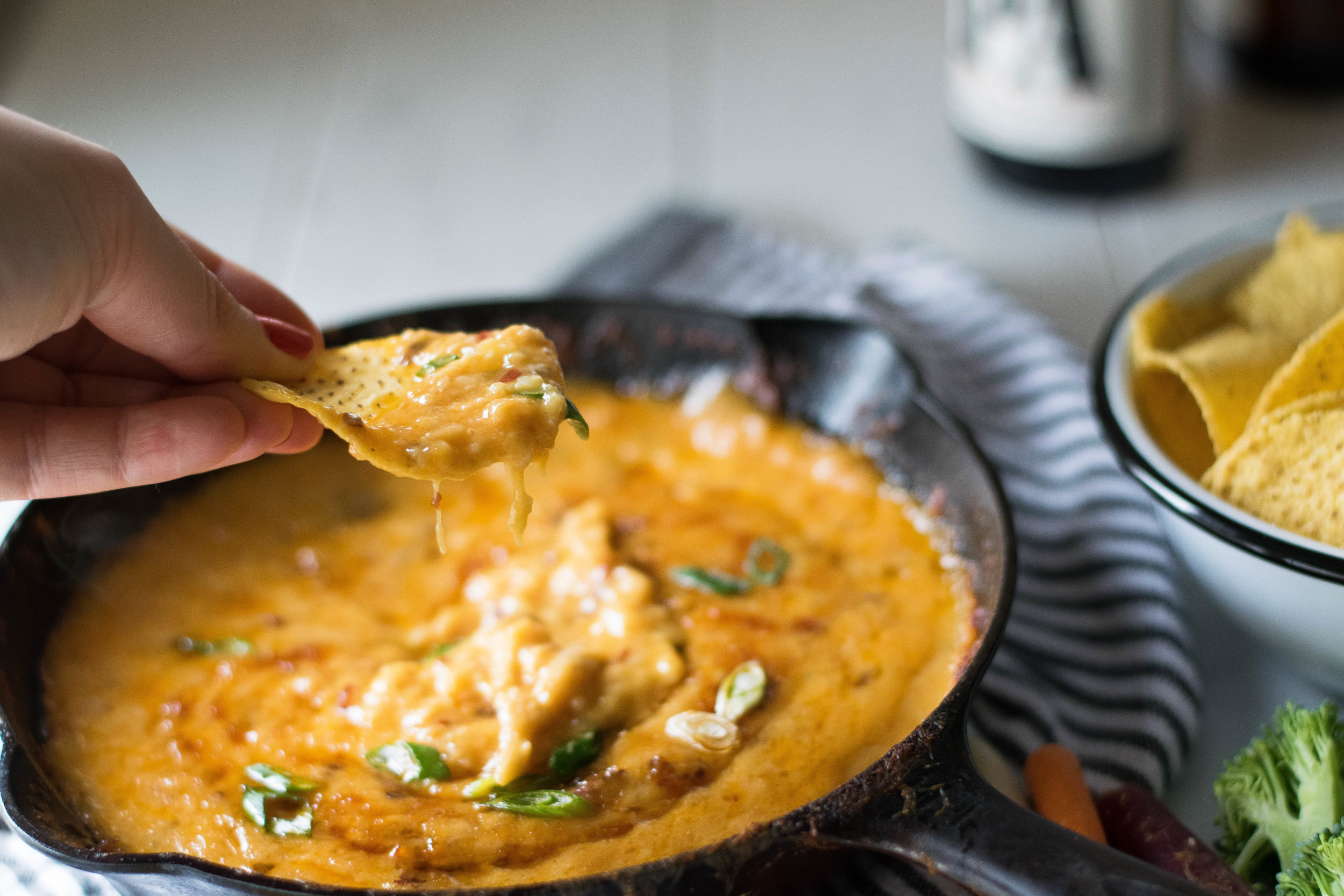 Chipotle, Cheddar + Beer Skillet Queso | All Purpose Flour Child