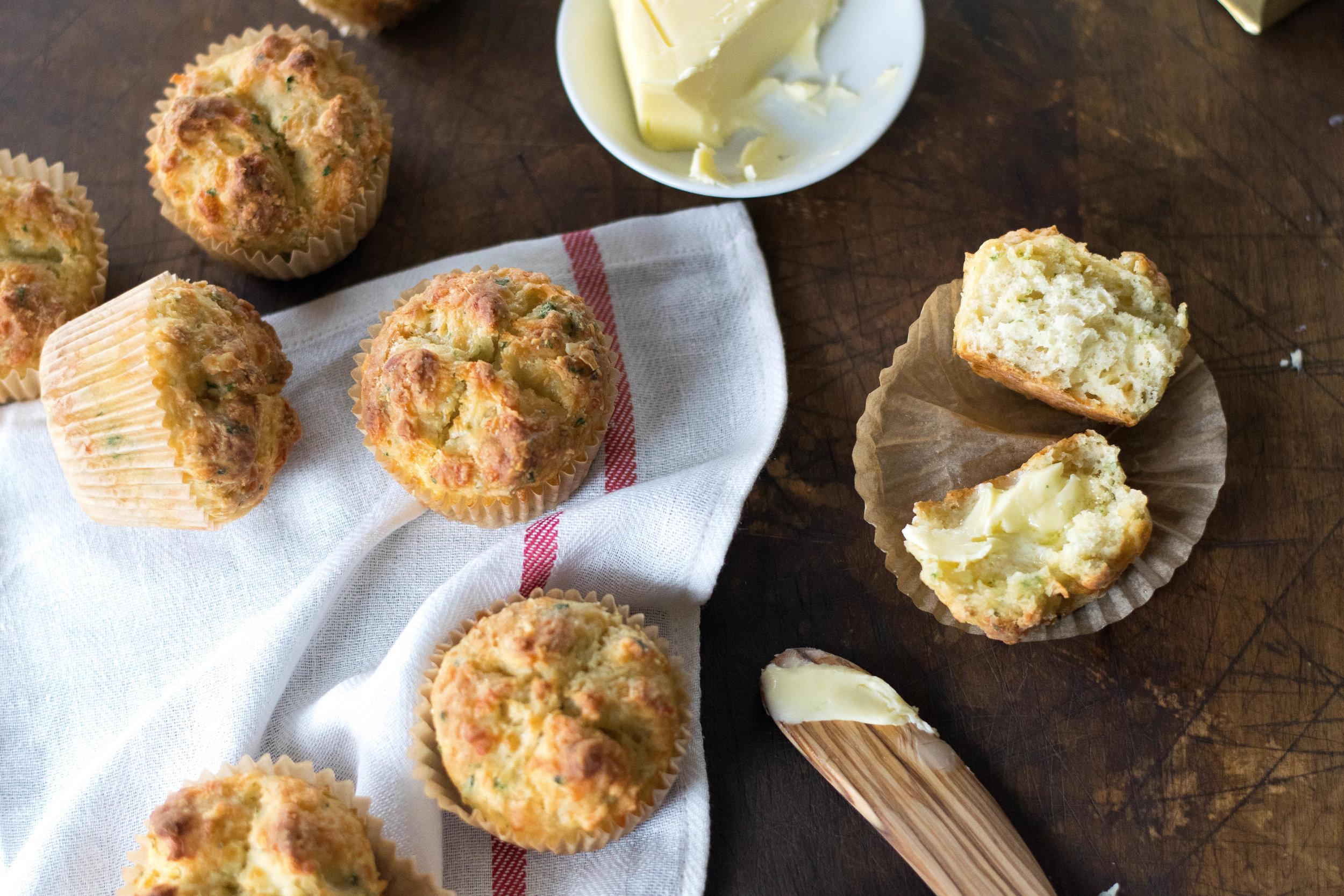 Irish Cheddar Soda Bread Muffins | All Purpose Flour Child