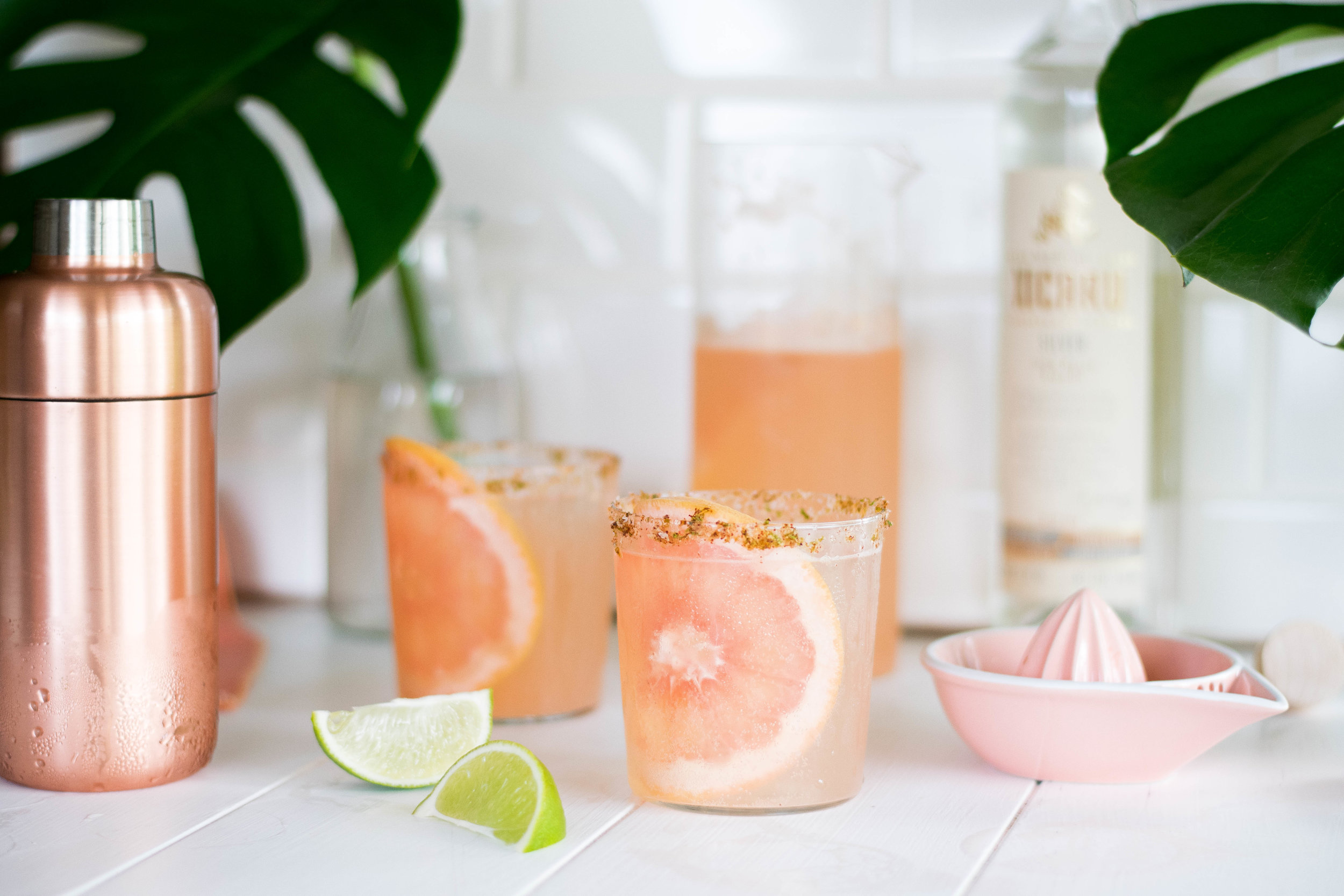 Smoky + Spicy Mezcal Paloma | All Purpose Flour Child