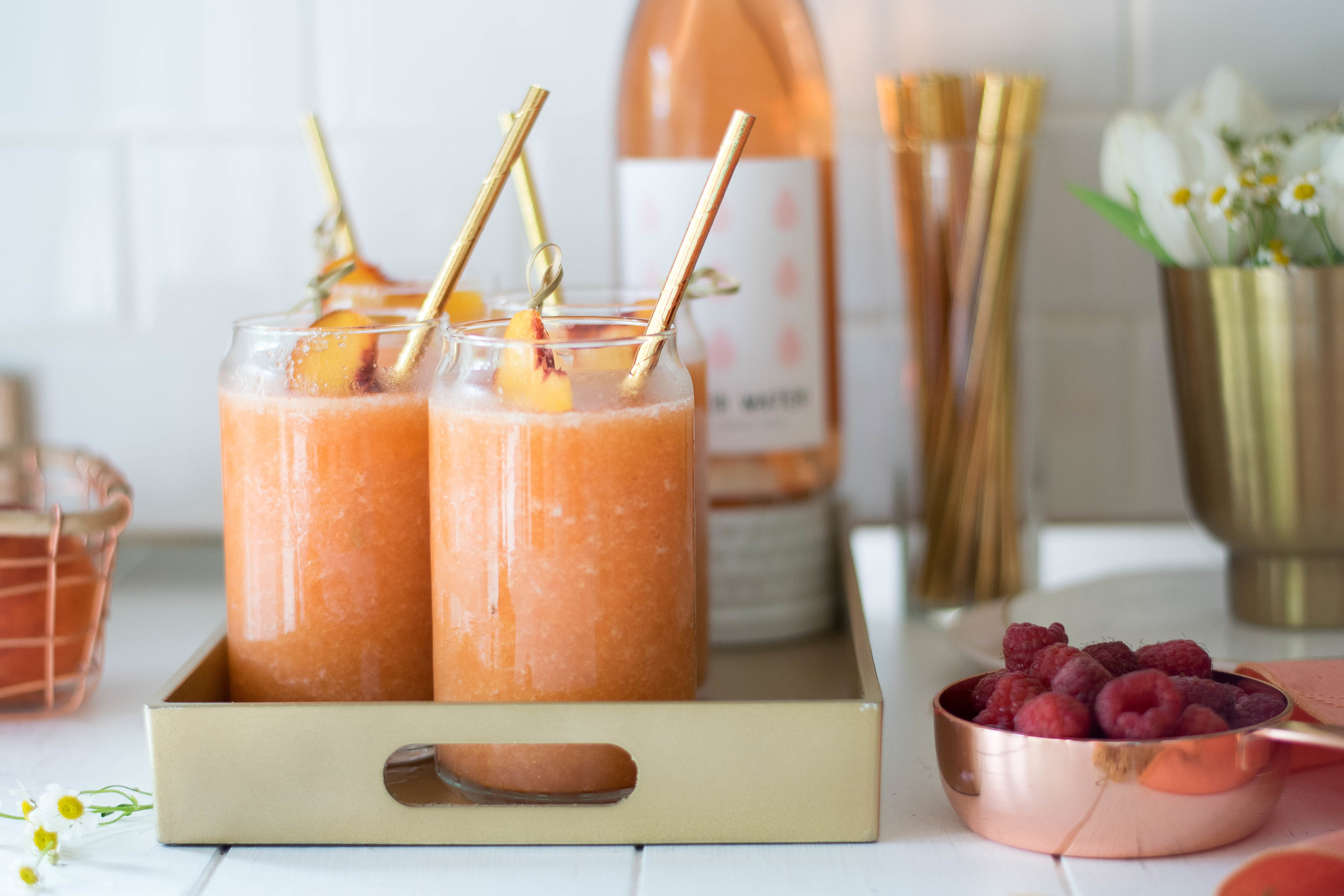 Peach + Raspberry Frozé | All Purpose Flour Child