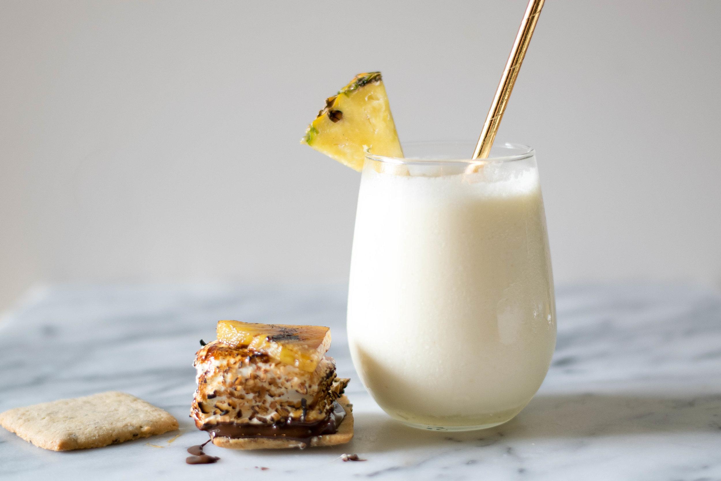 Cocktail-Inspired: Piña Colada x S'mores! | All Purpose Flour Child