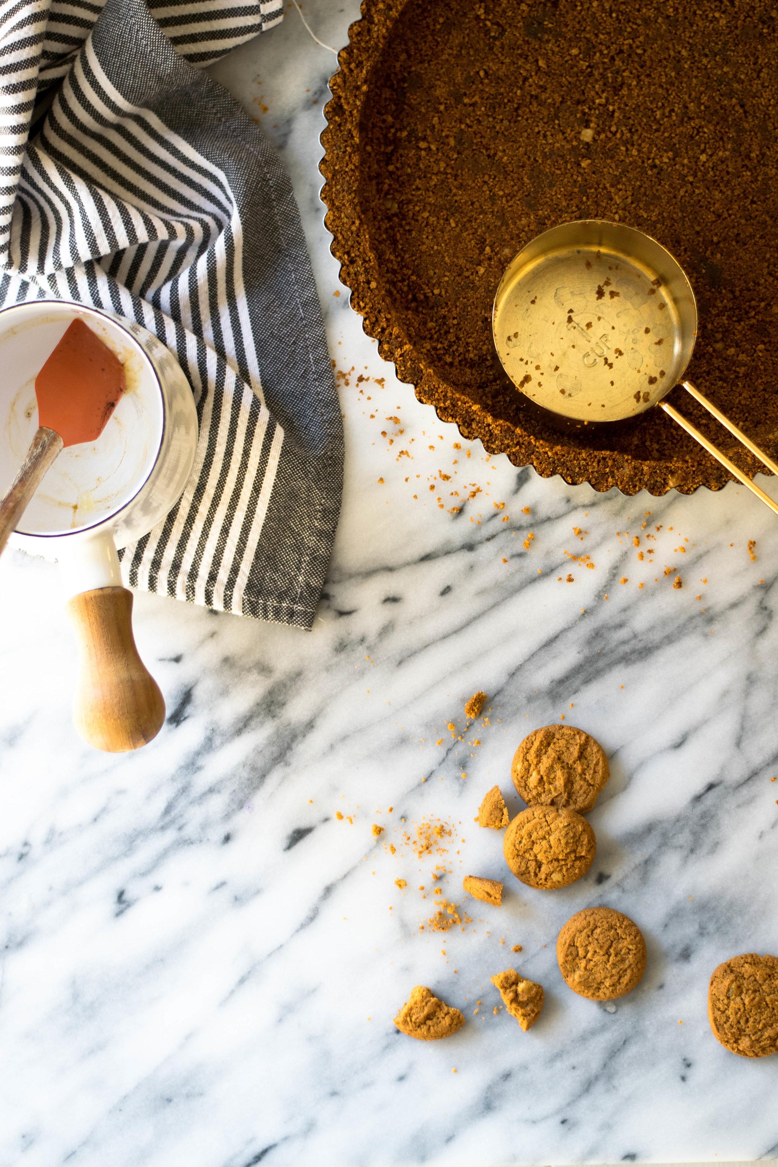 Cranberry Orange Curd + Gingersnap Tart   All Purpose Flour Child