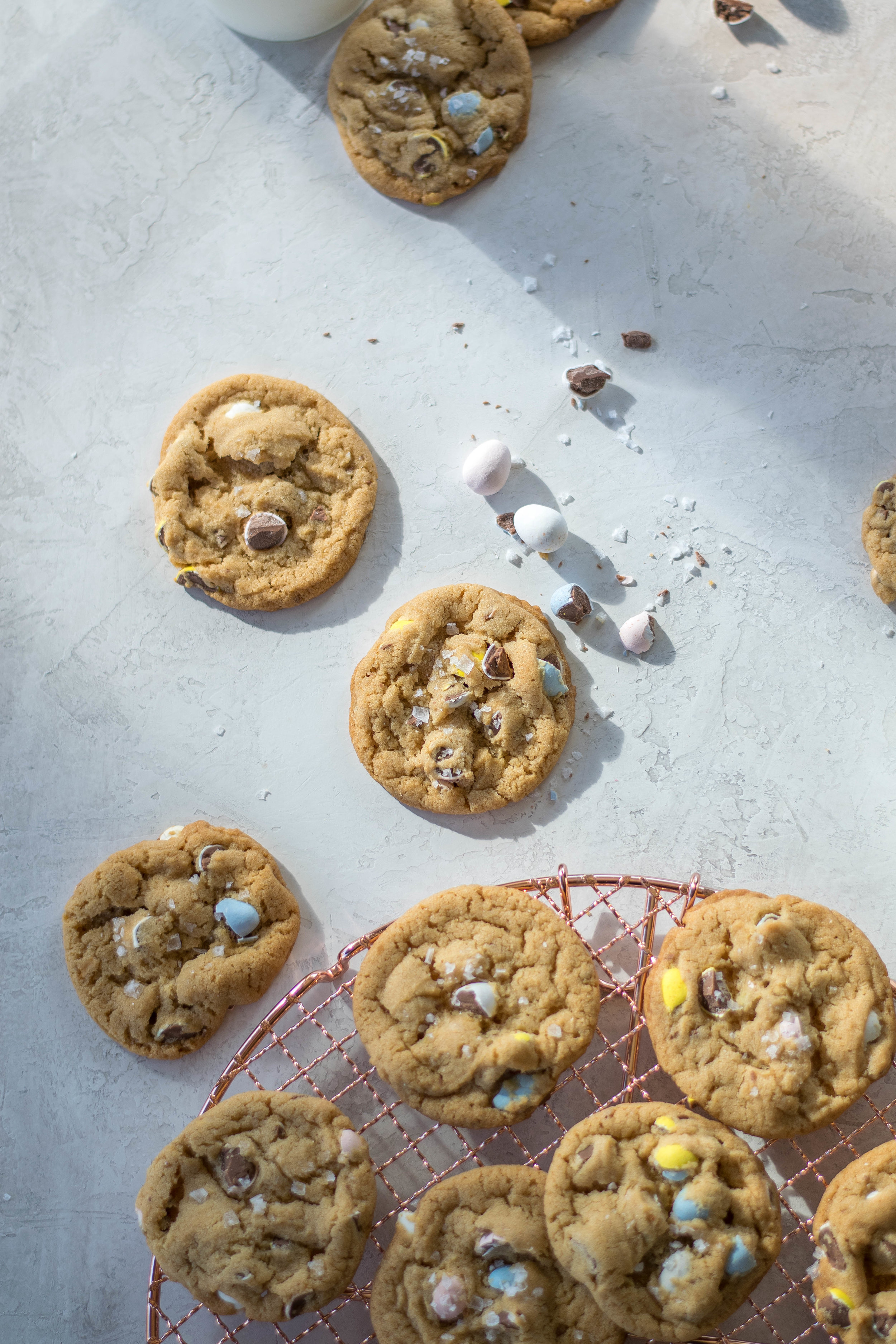 Brown Butter Malted Cadbury Egg Cookies | All Purpose Flour Child