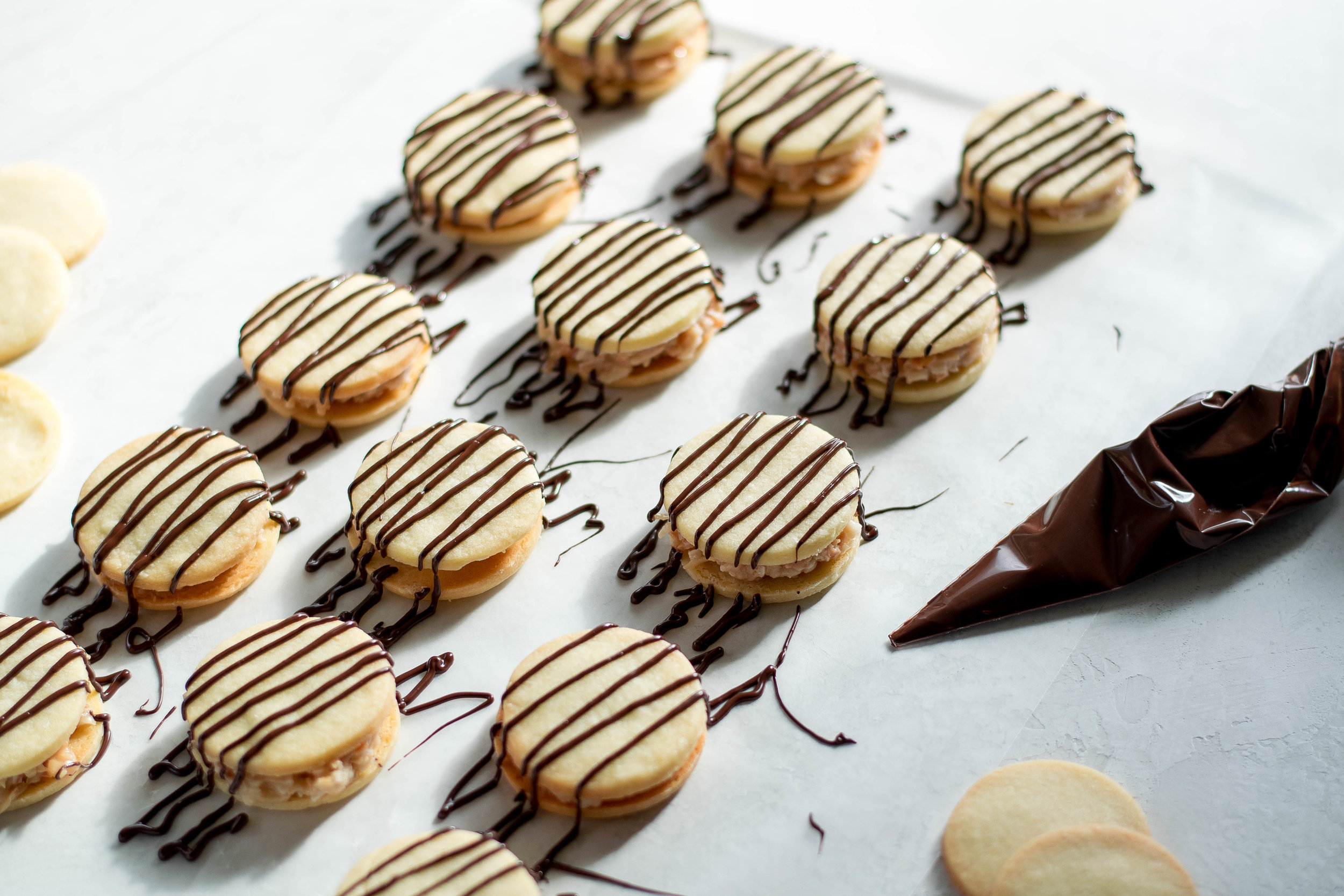 Samoa Sandwich Cookies with Coconut Milk Caramel | All Purpose Flour Child