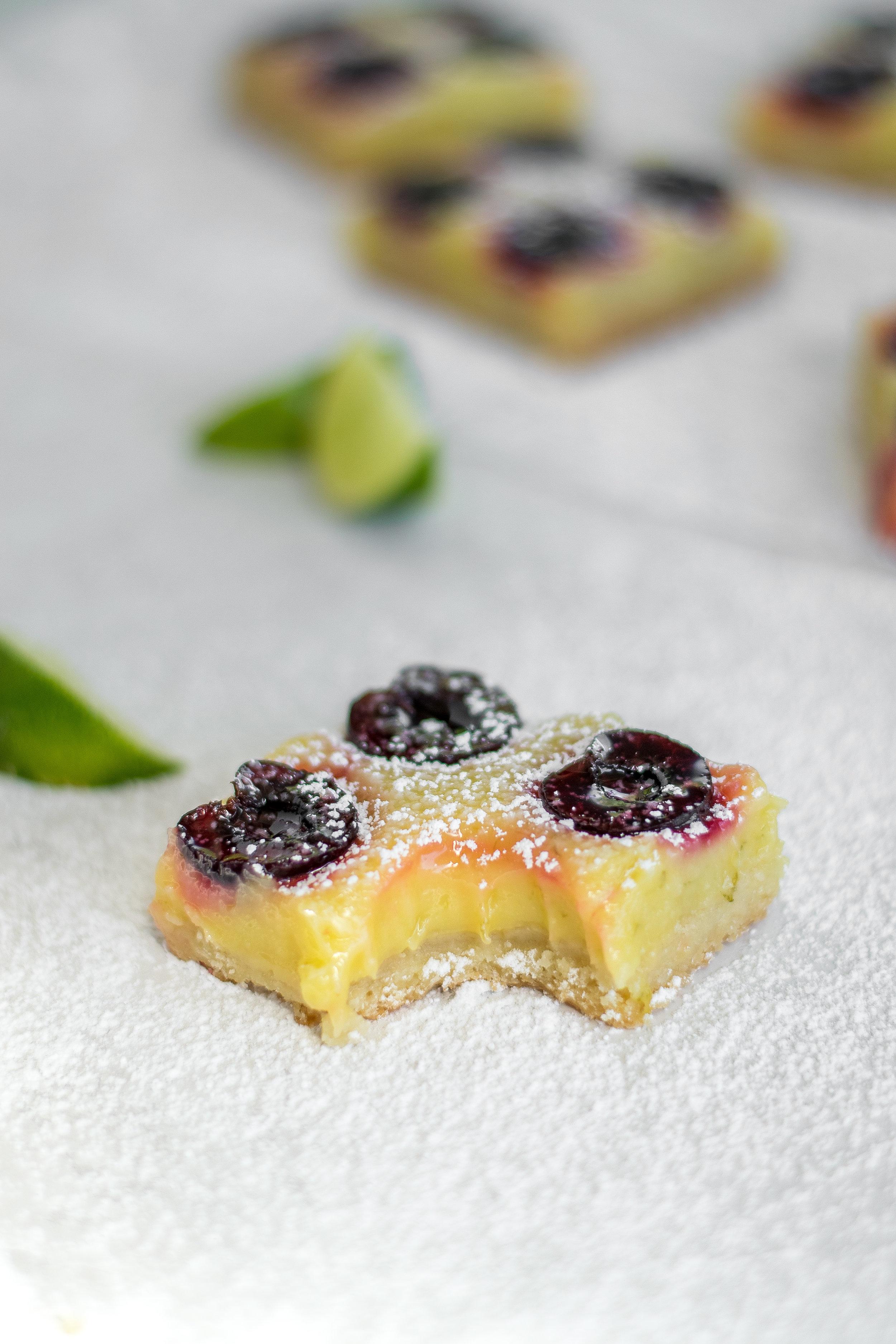 Cherry Lime Bars | All Purpose Flour Child