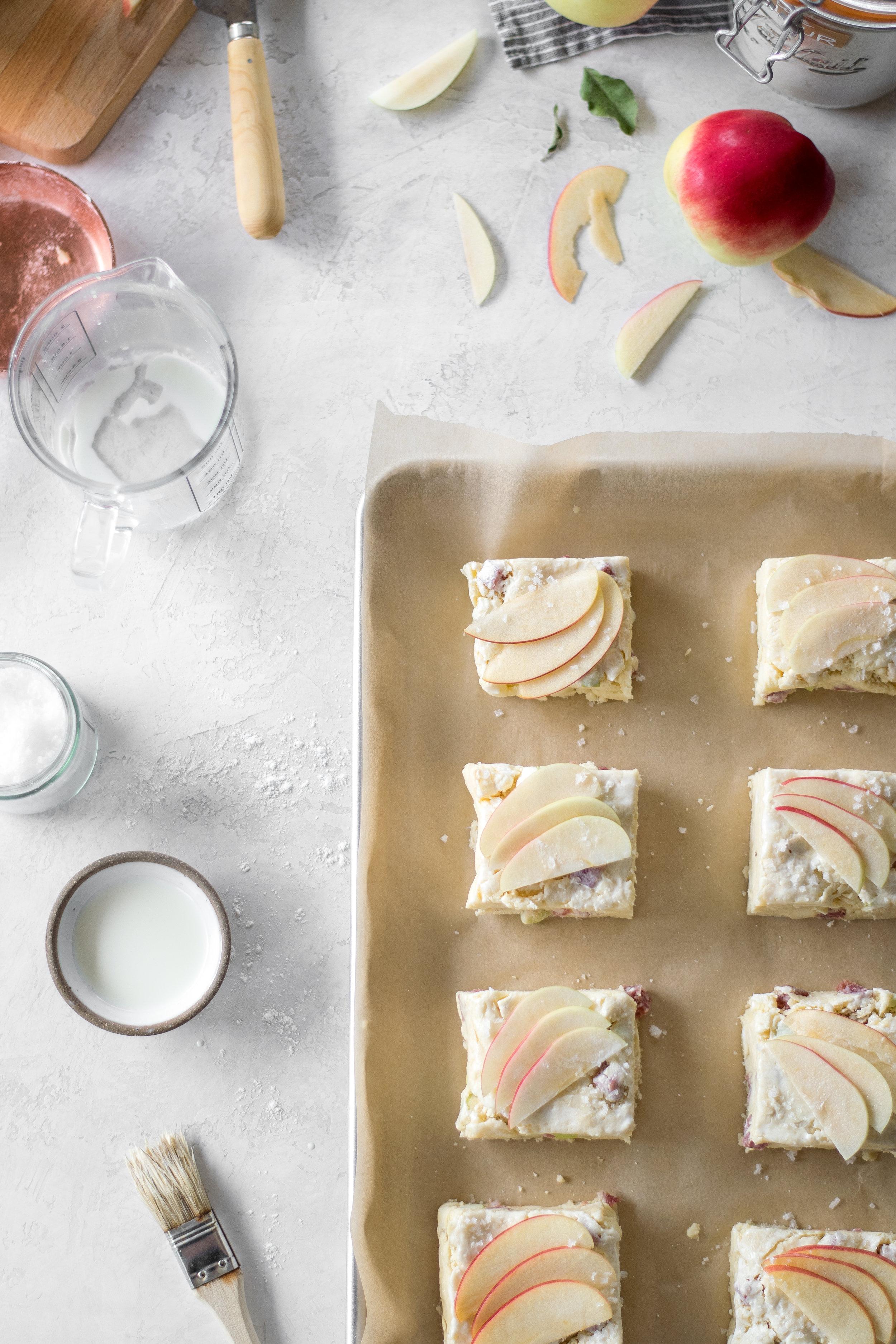 Apple, Brie, + Salami Scones   All Purpose Flour Child