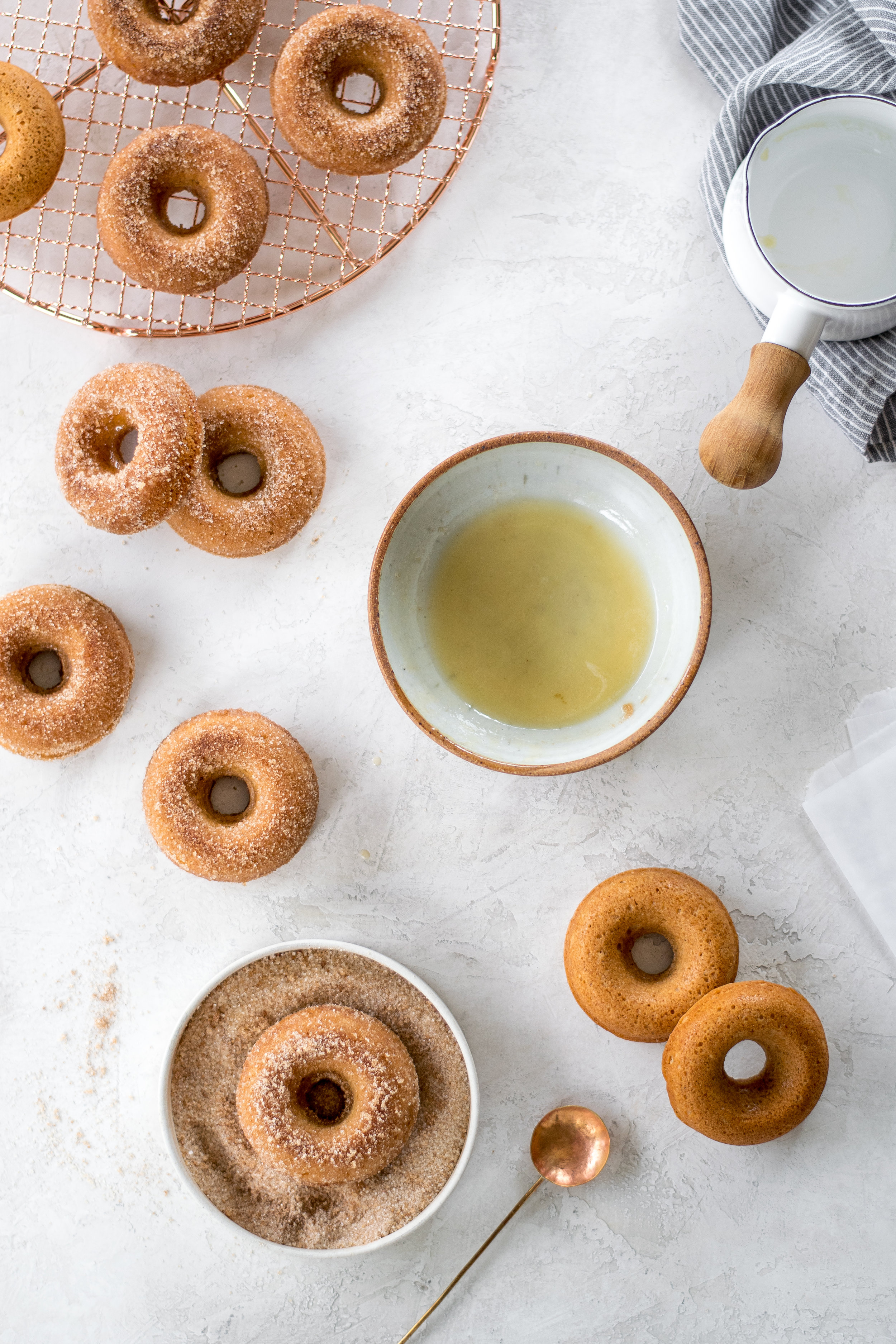 Baked Sour Cream Apple Cider Doughnuts | All Purpose Flour Child