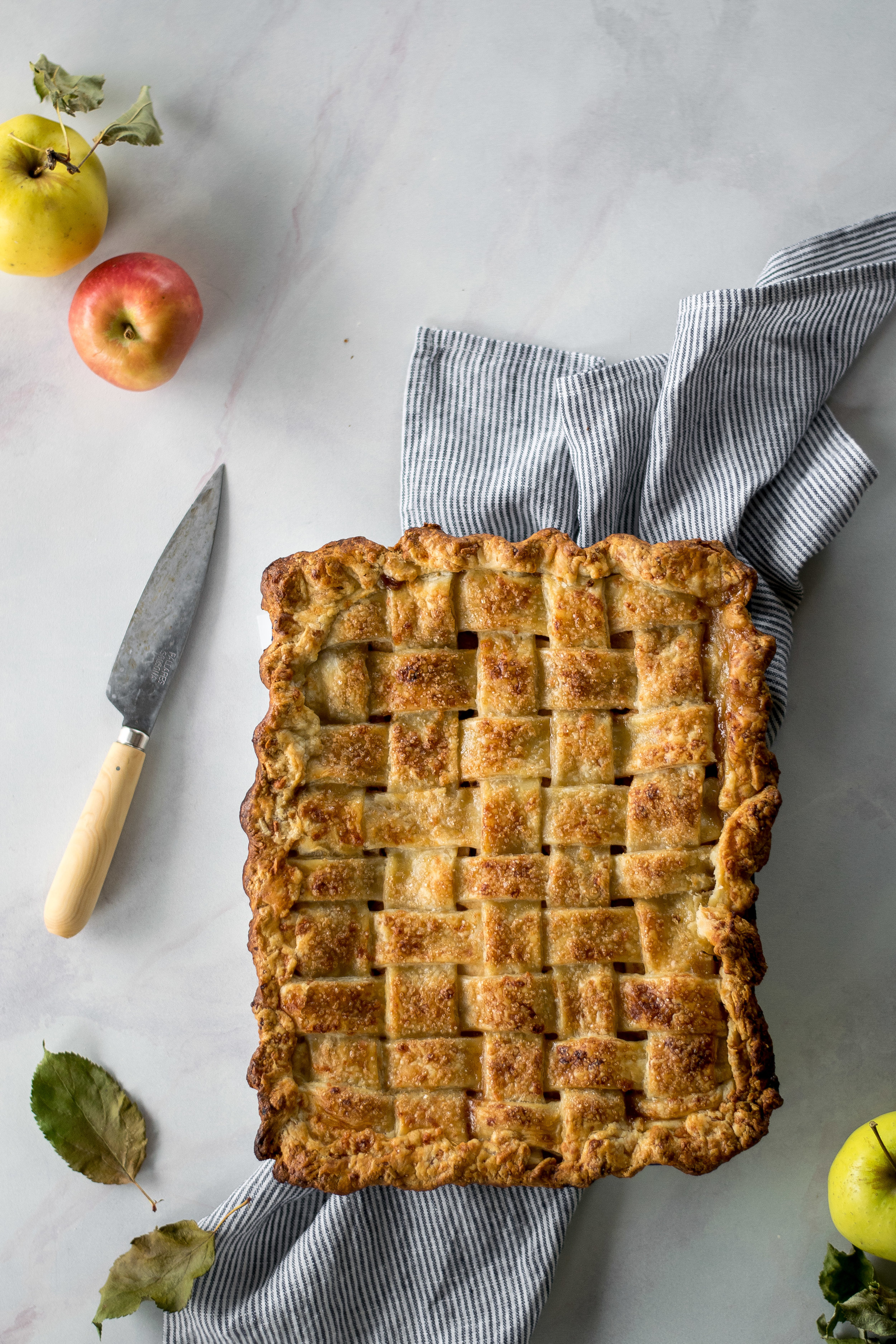 Apple Cheddar Slab Pie | All Purpose Flour Child