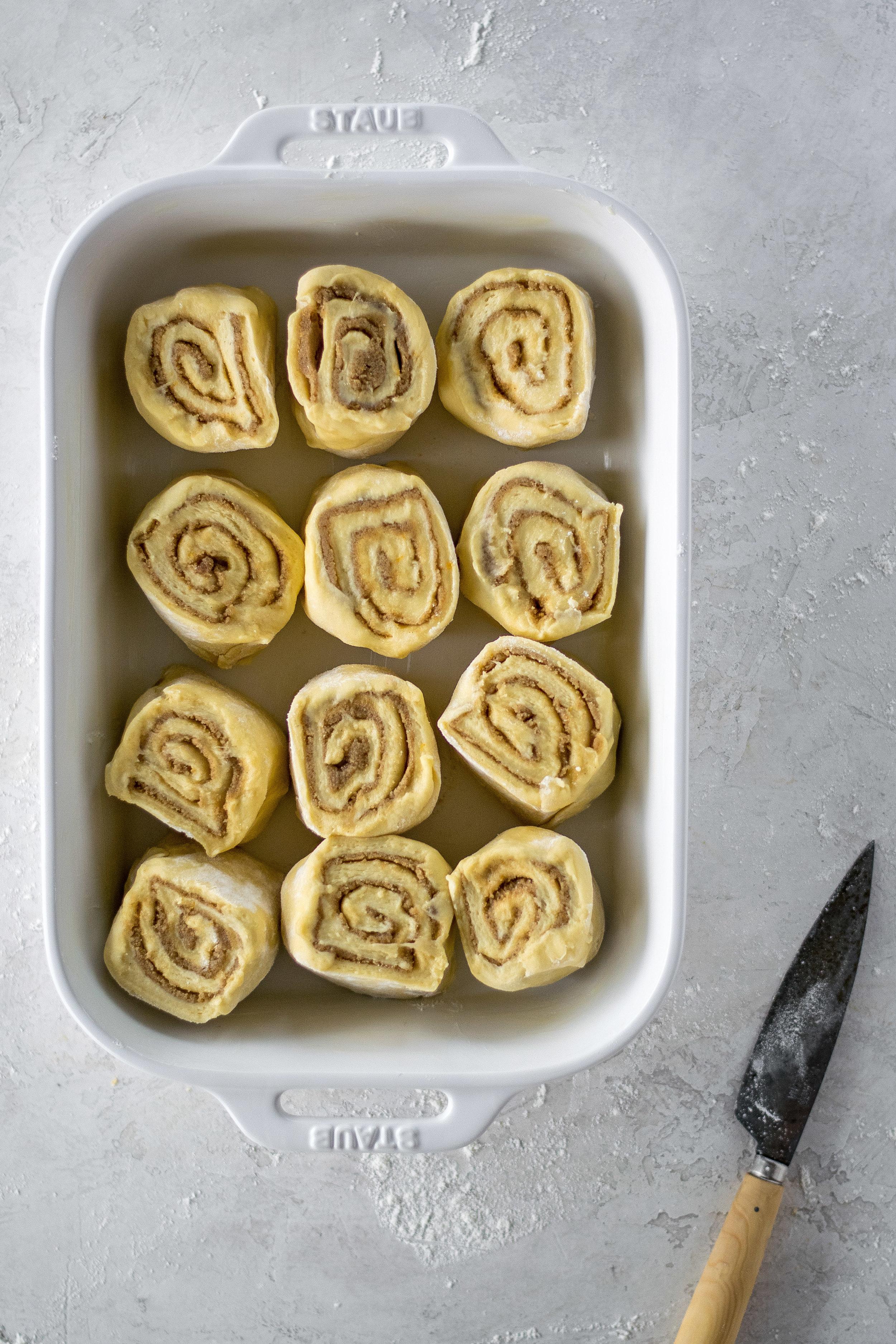 Cardamom Orange Morning Rolls with Orange Blossom Cream Cheese Frosting | All Purpose Flour Child