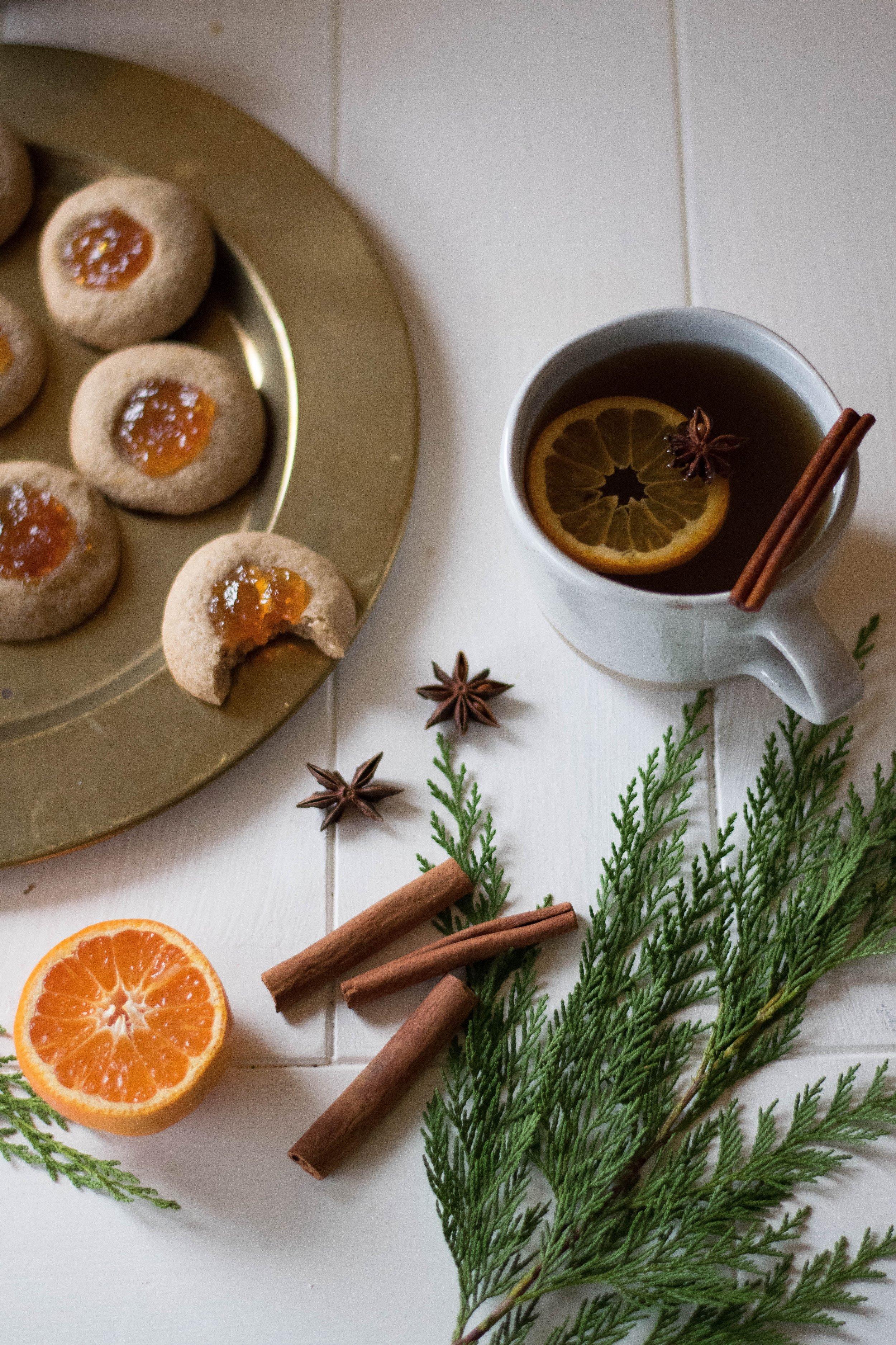 Mulling Spice + Orange Marmalade Thumbprint Cookies | All Purpose Flour Child