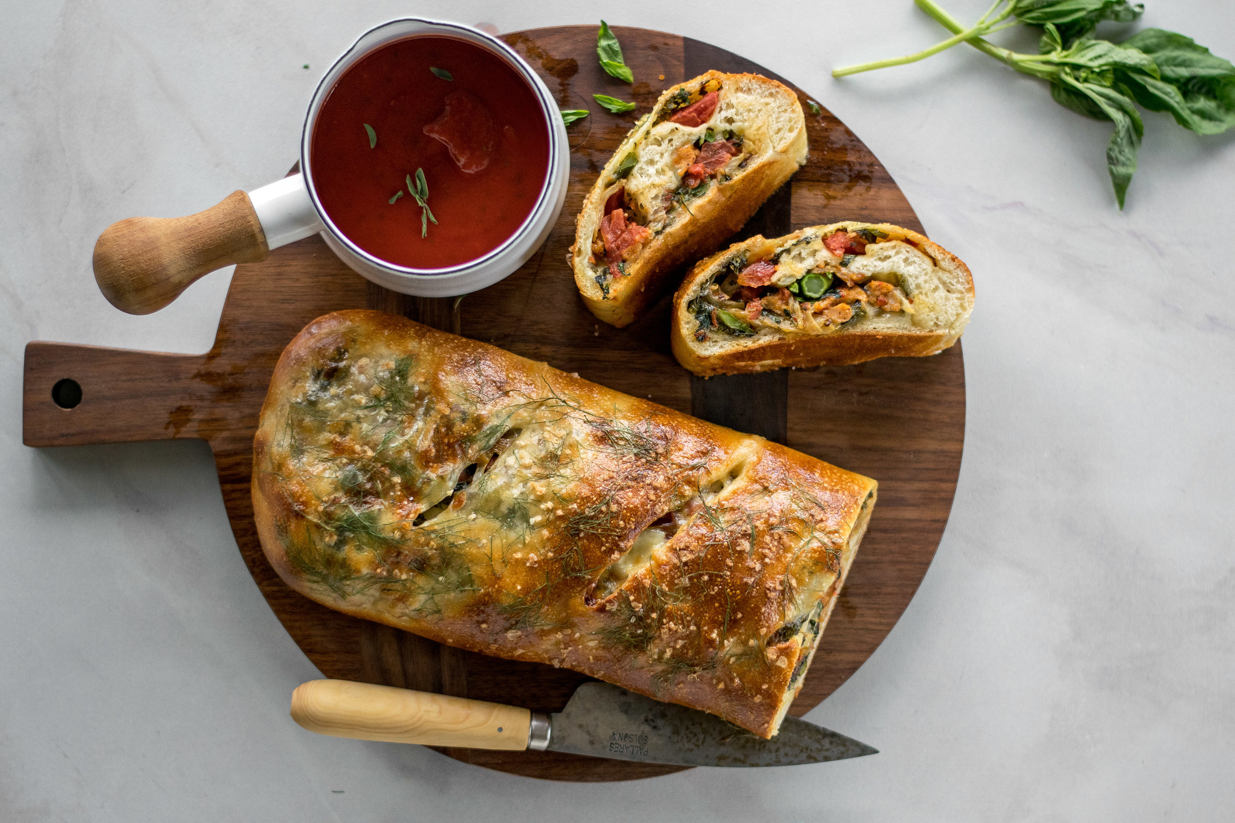 Broccoli Rabe + Caramelized Fennel Sausage Stromboli   All Purpose Flour Child