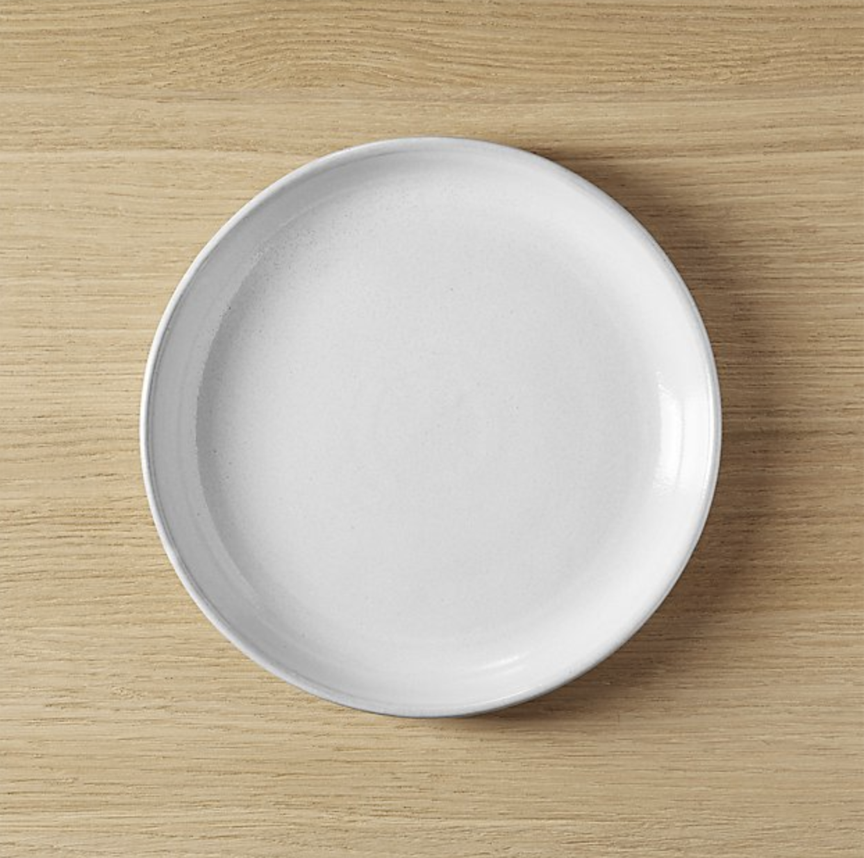CB2 Black Clay Salad Plate
