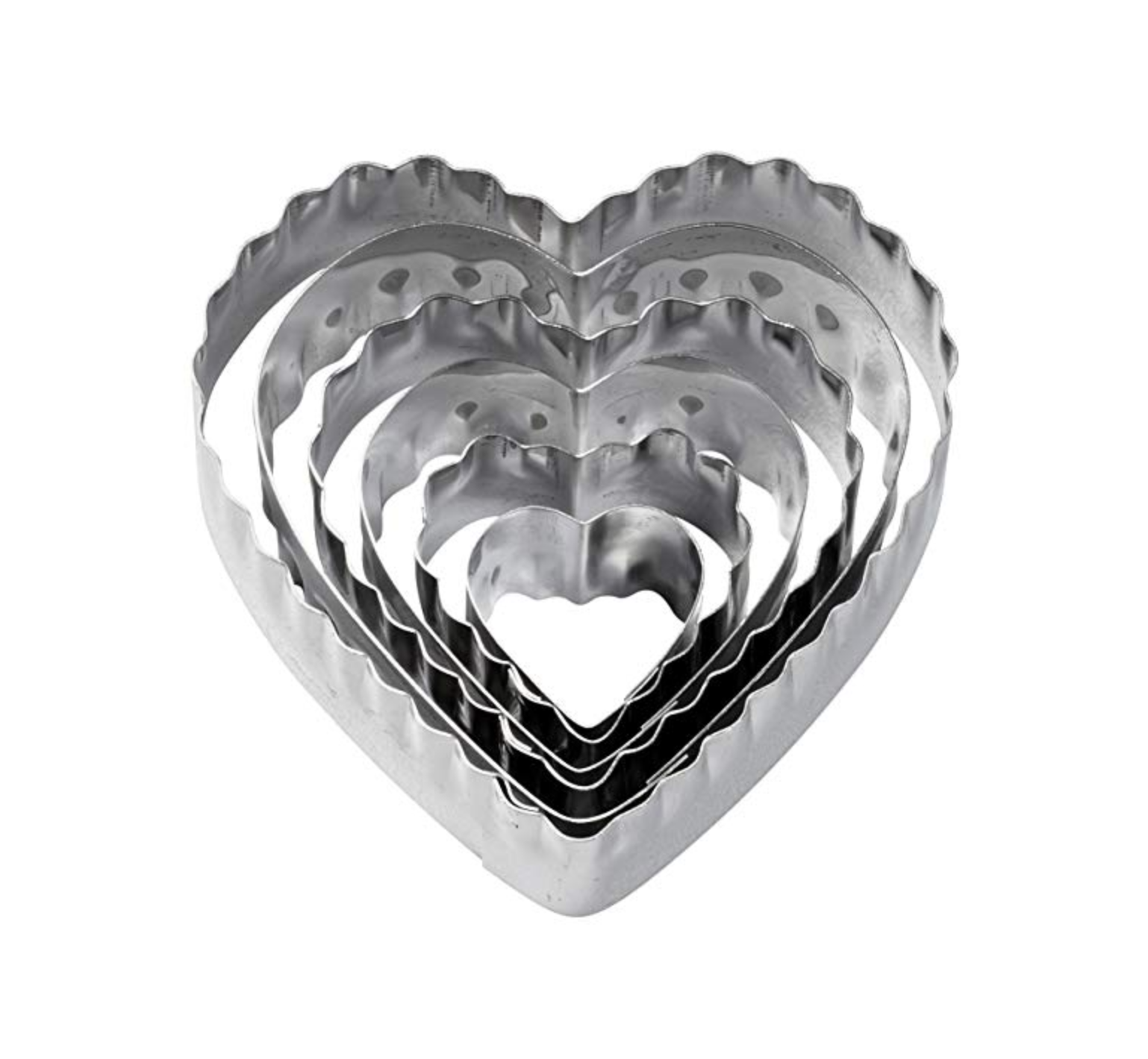 Fluted Heart Cookie Cutters