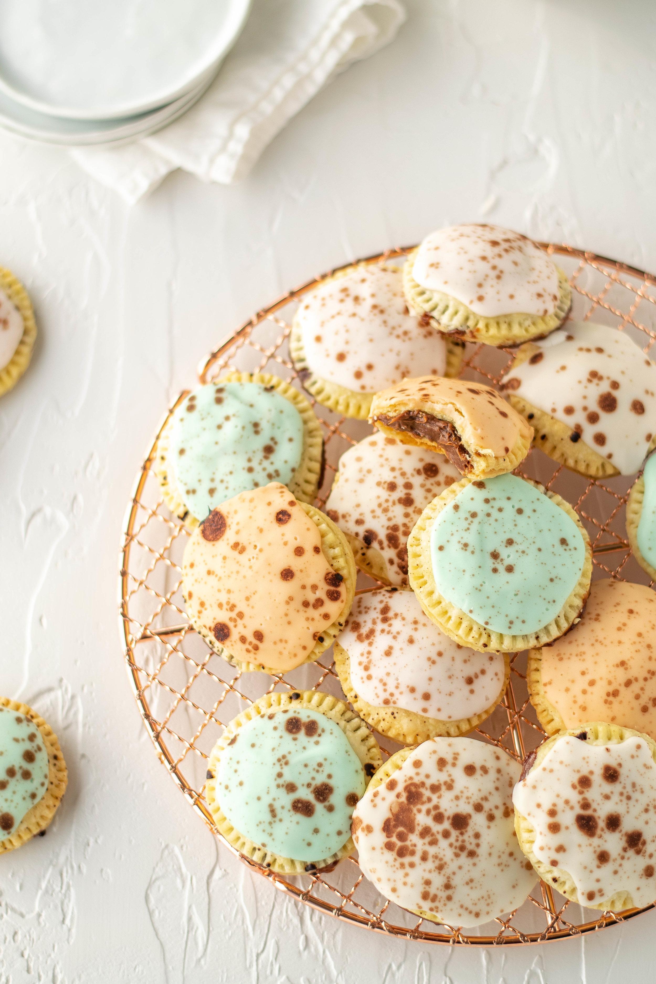 Malted Milk Chocolate Robin's Egg Pop Tarts | All Purpose Flour Child
