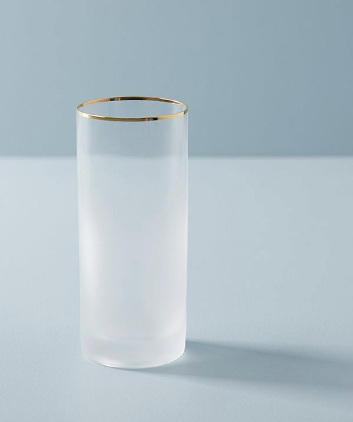 Gold Rimmed Highball Glass