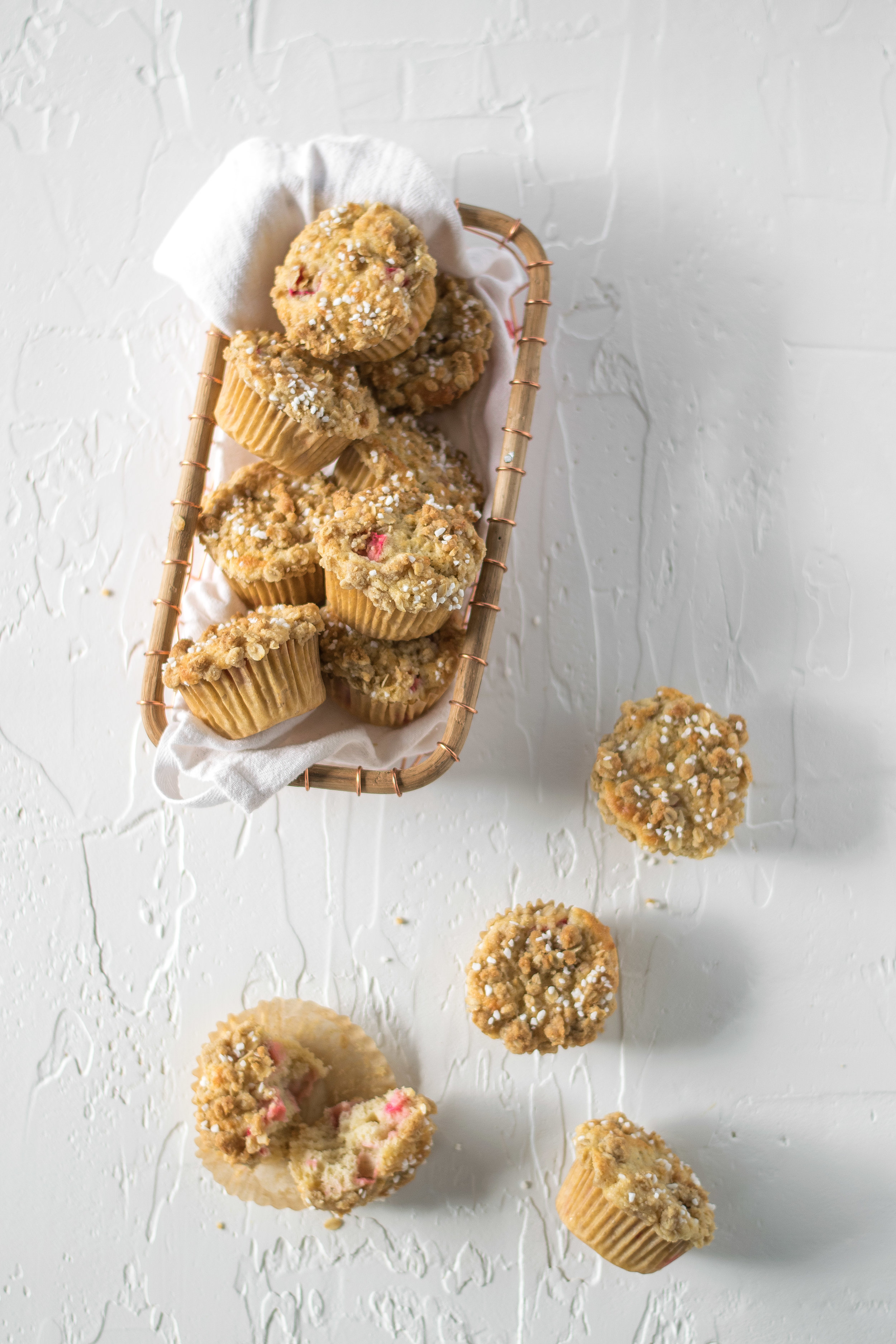 Rhubarb Streusel Muffins   All Purpose Flour Child