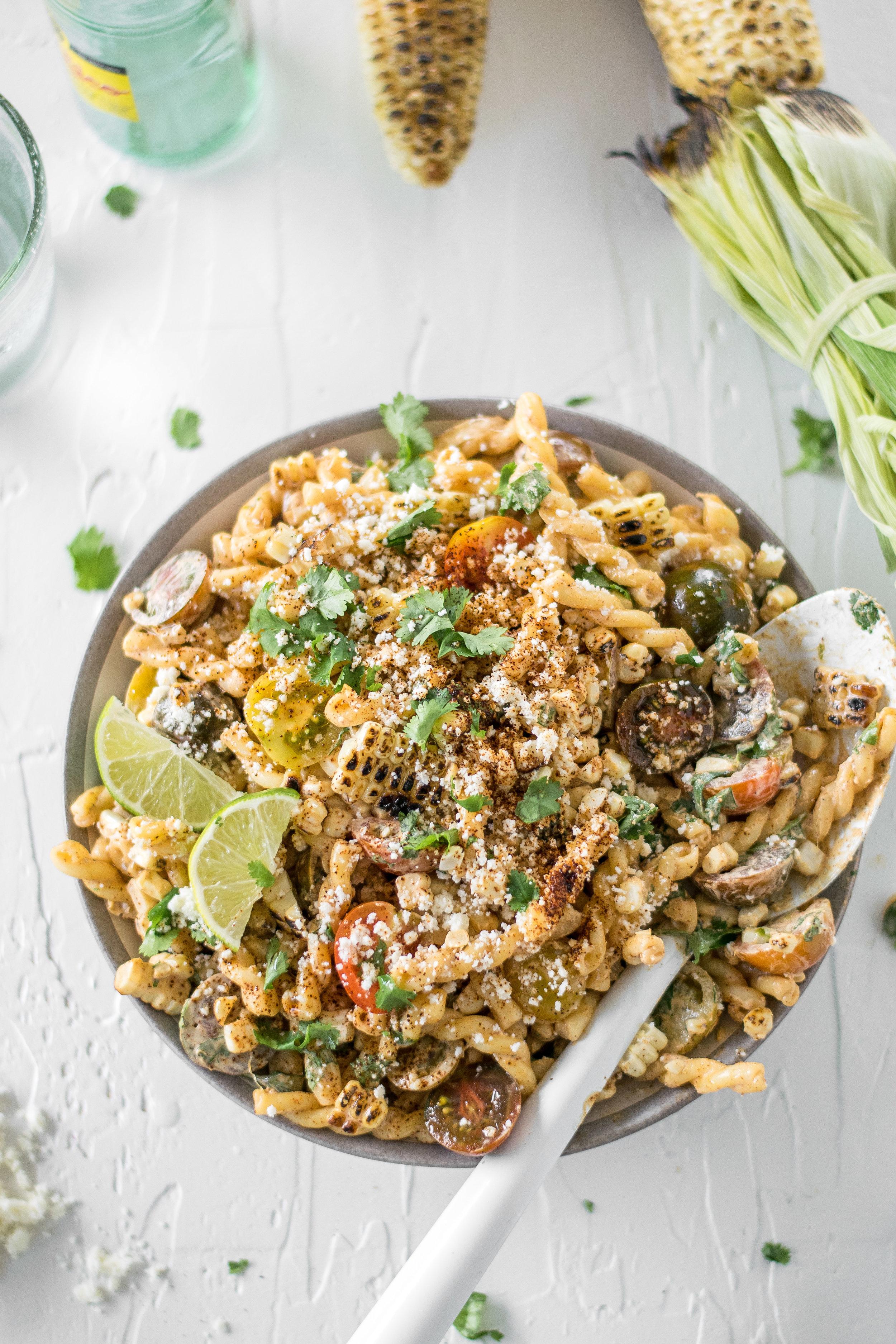 Mexican Street Corn Pasta Salad | All Purpose Flour Child
