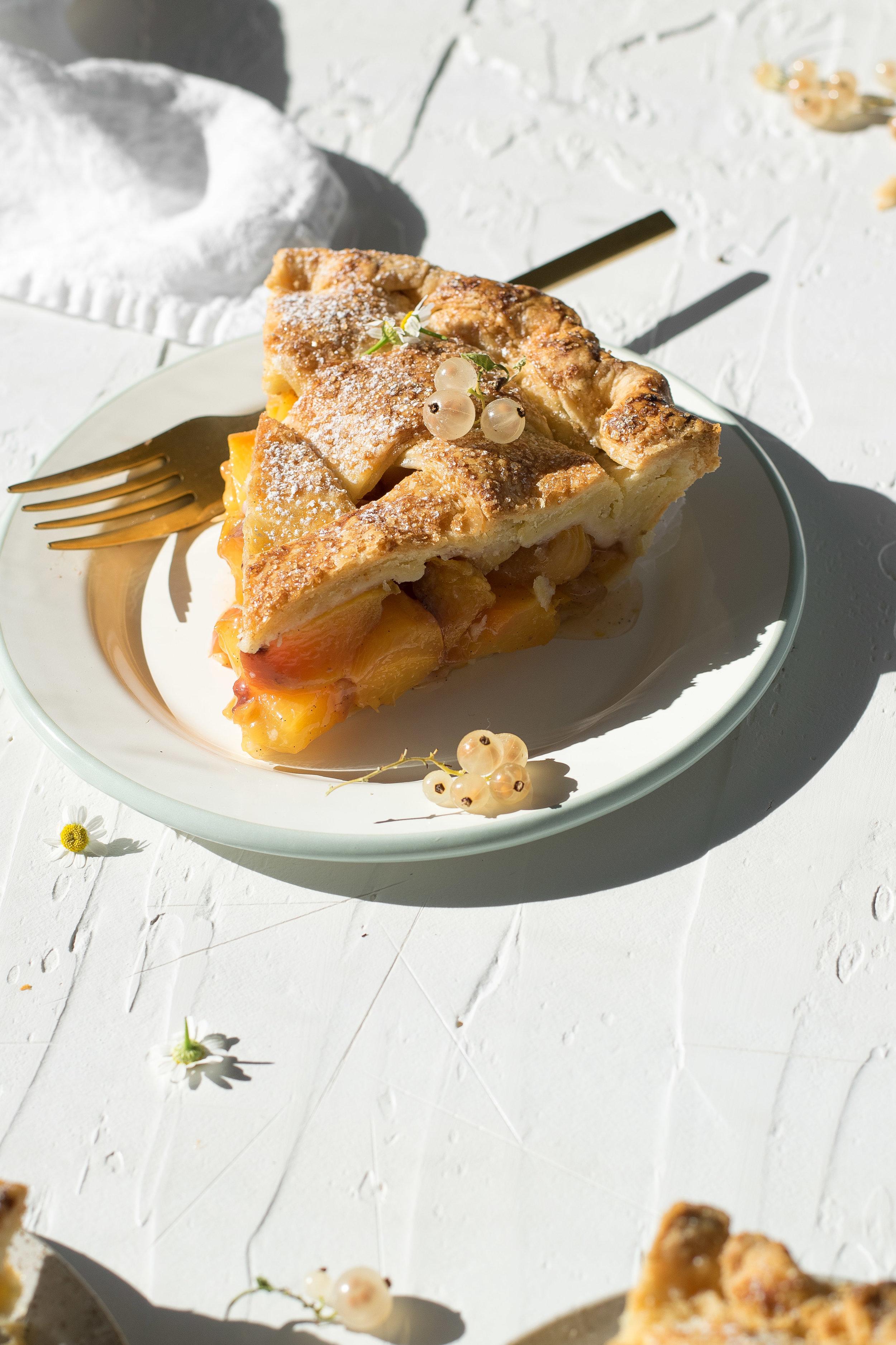Elderflower Peach Pie | All Purpose Flour Child