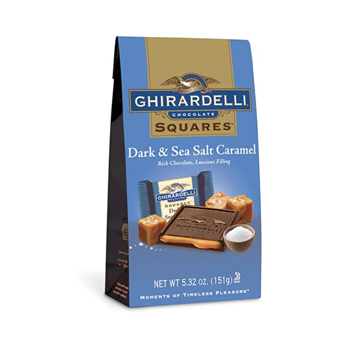 Ghirardelli Dark Chocolate Sea Salt Caramel Squares