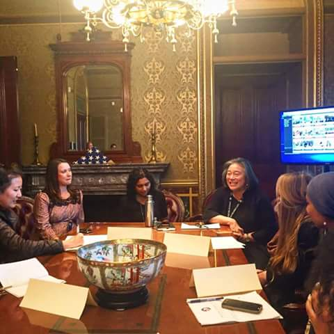 The real treat: meeting Chief of Staff to Michelle Obama, Tina Tchen. We shared our Let Girls Learn projects we have been working on. She said she would relay the success stories back to Michelle.