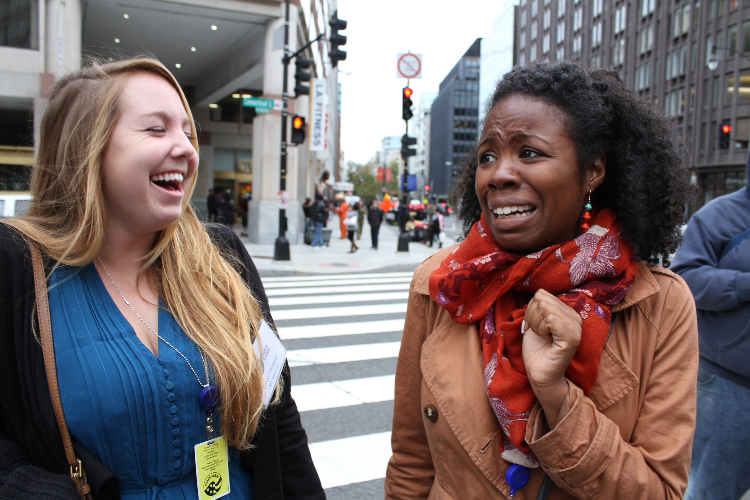 Here's me laughing at Brittany's fear of people wearing masks after passing a zombie on the street. I'm sorry, Brittany.
