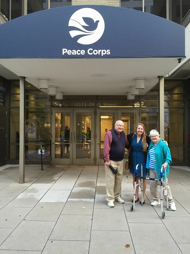 I owe it to these two people who inspired me to travel the world, dropped me off at my Peace Corps staging event rigfht before I jumped on a plane to Madagascar and to drive down to give me the biggest hugs in D.C.