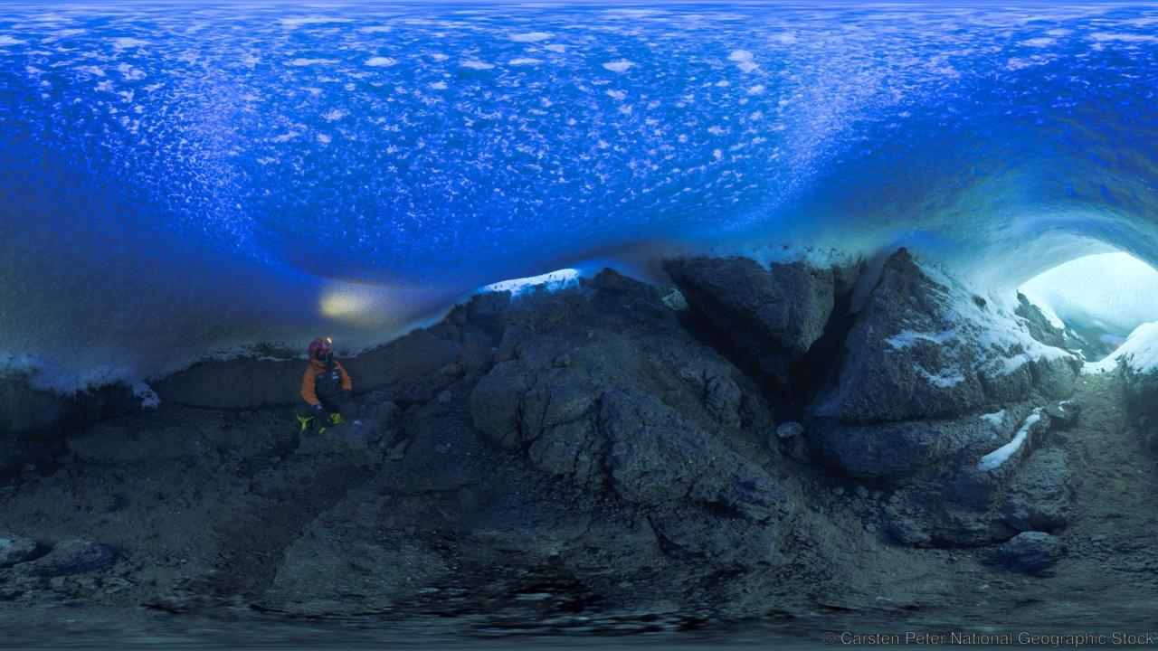 Antarctica's volcanic ice caves - Located in one of Earth's coldest spots, Mount Erebus is the southernmost active volcano on the planet. Its caves are home to mysterious microbes that thrive in the blistering heat. //BBC Travel