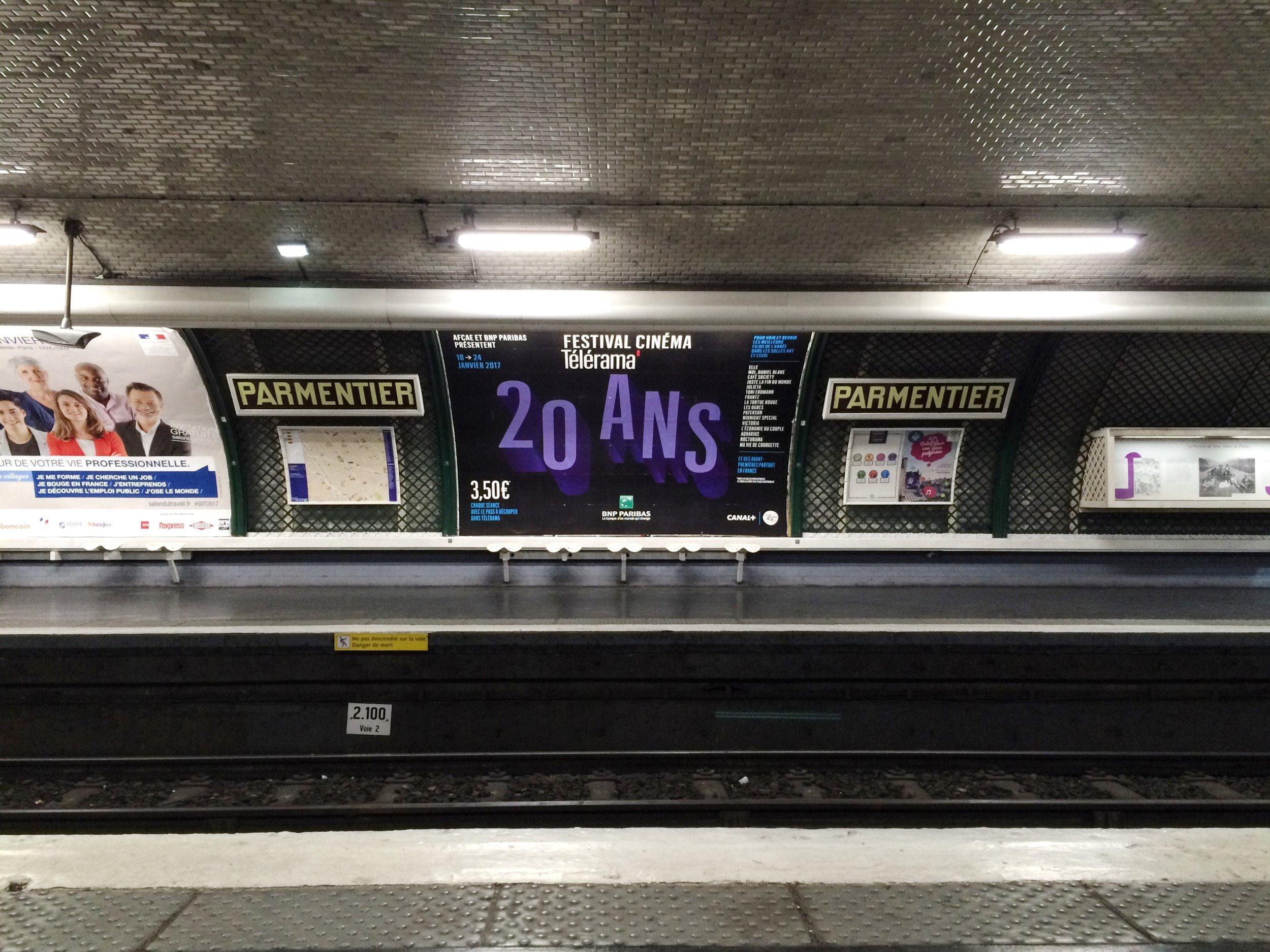 Partmentier Station, Le Metro   Paris   source: Alexis Rockley, Local (Tourist)