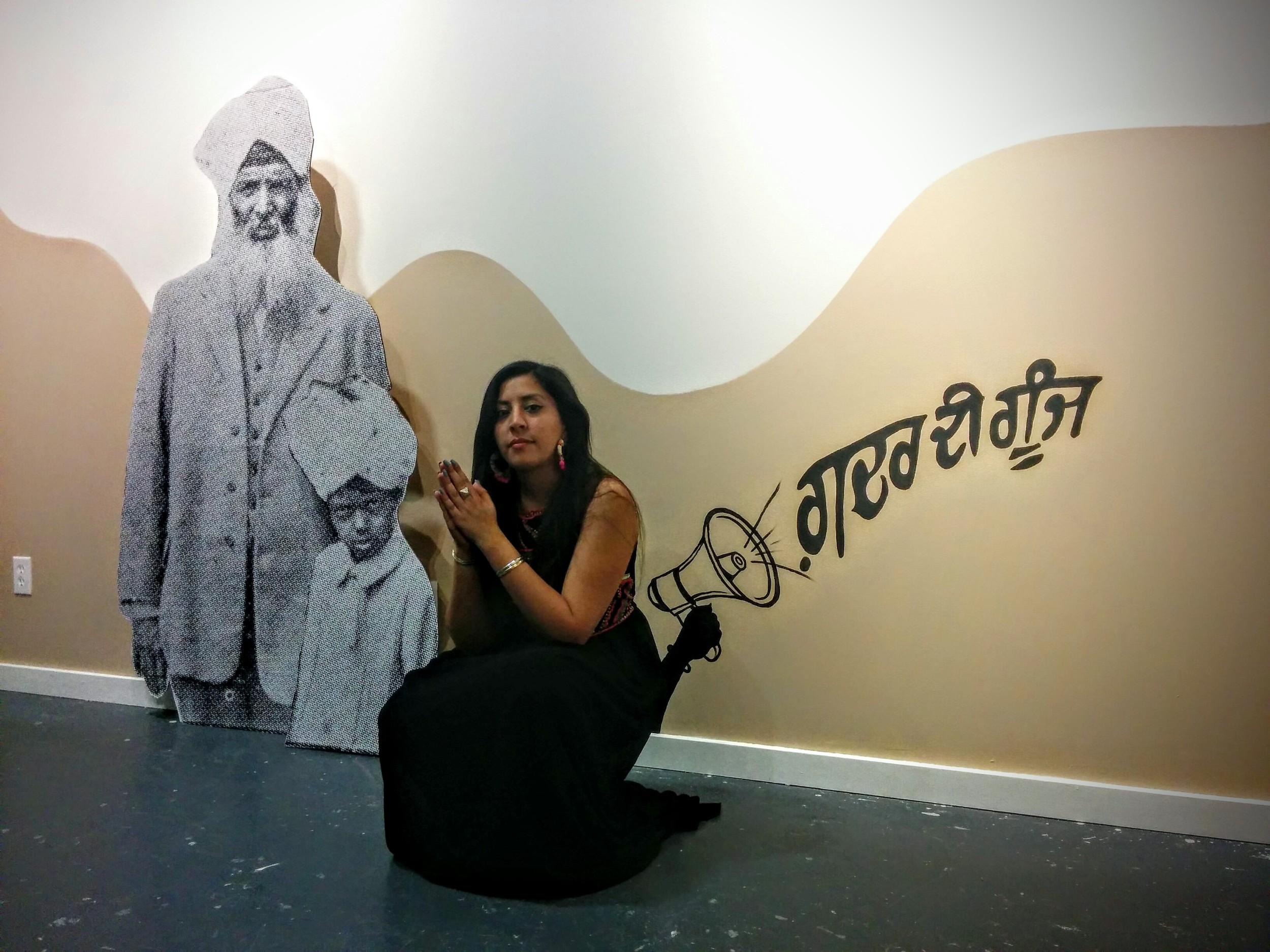 artist Nisha Kaur Sembi by her work