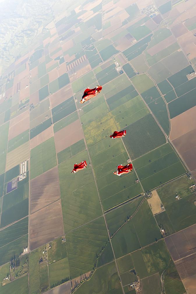 Flying over Davis, CA. USA