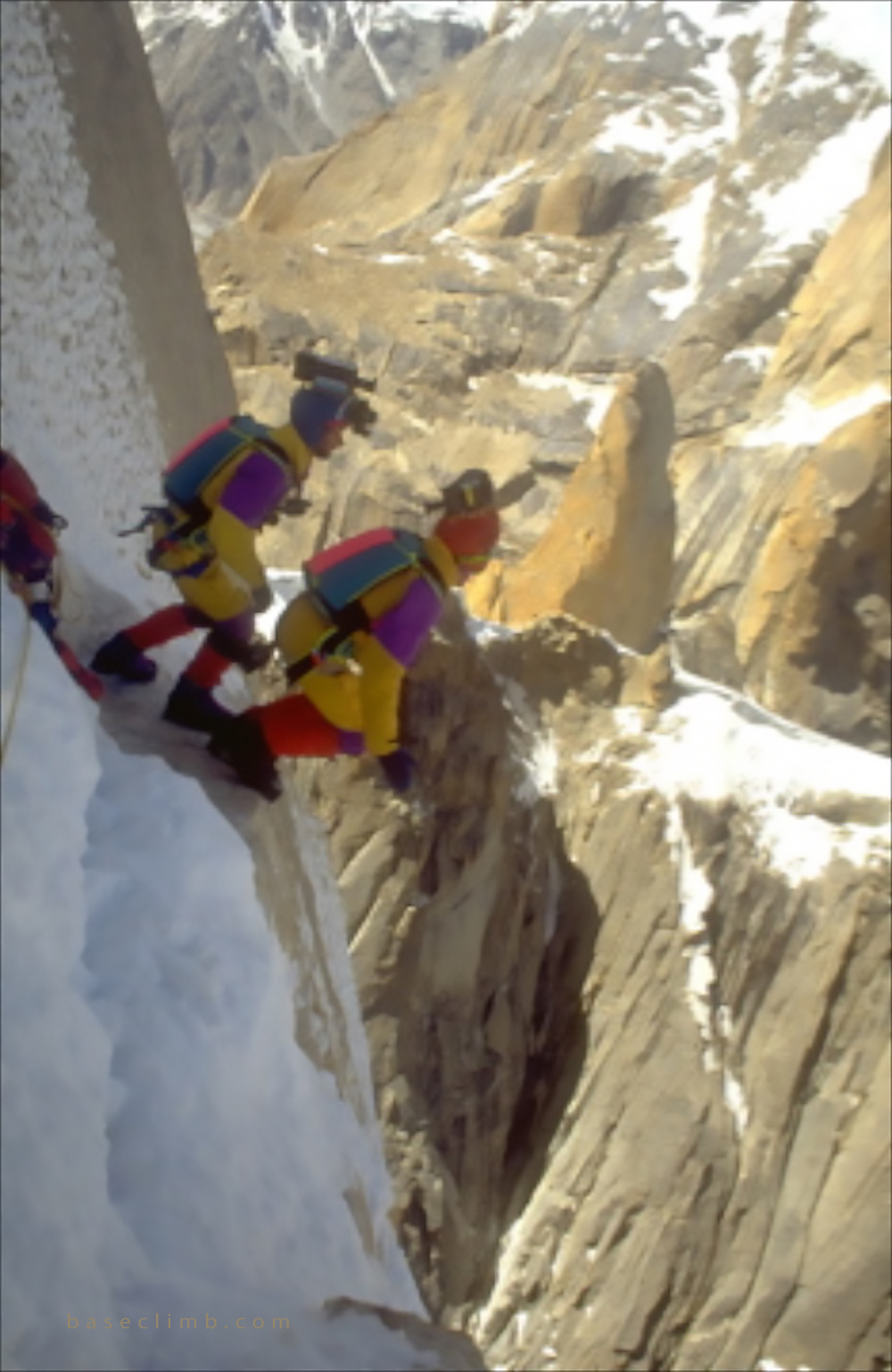 Baseclimb - jump from the Great Trango Tower in Pakistan