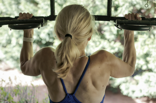 Pull-ups - vary the grip between wide and narrow.