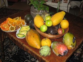 Fresh Fruit from the garden of the Hale Hookipa Inn