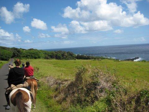 Horseback riding on Maui Hawaii