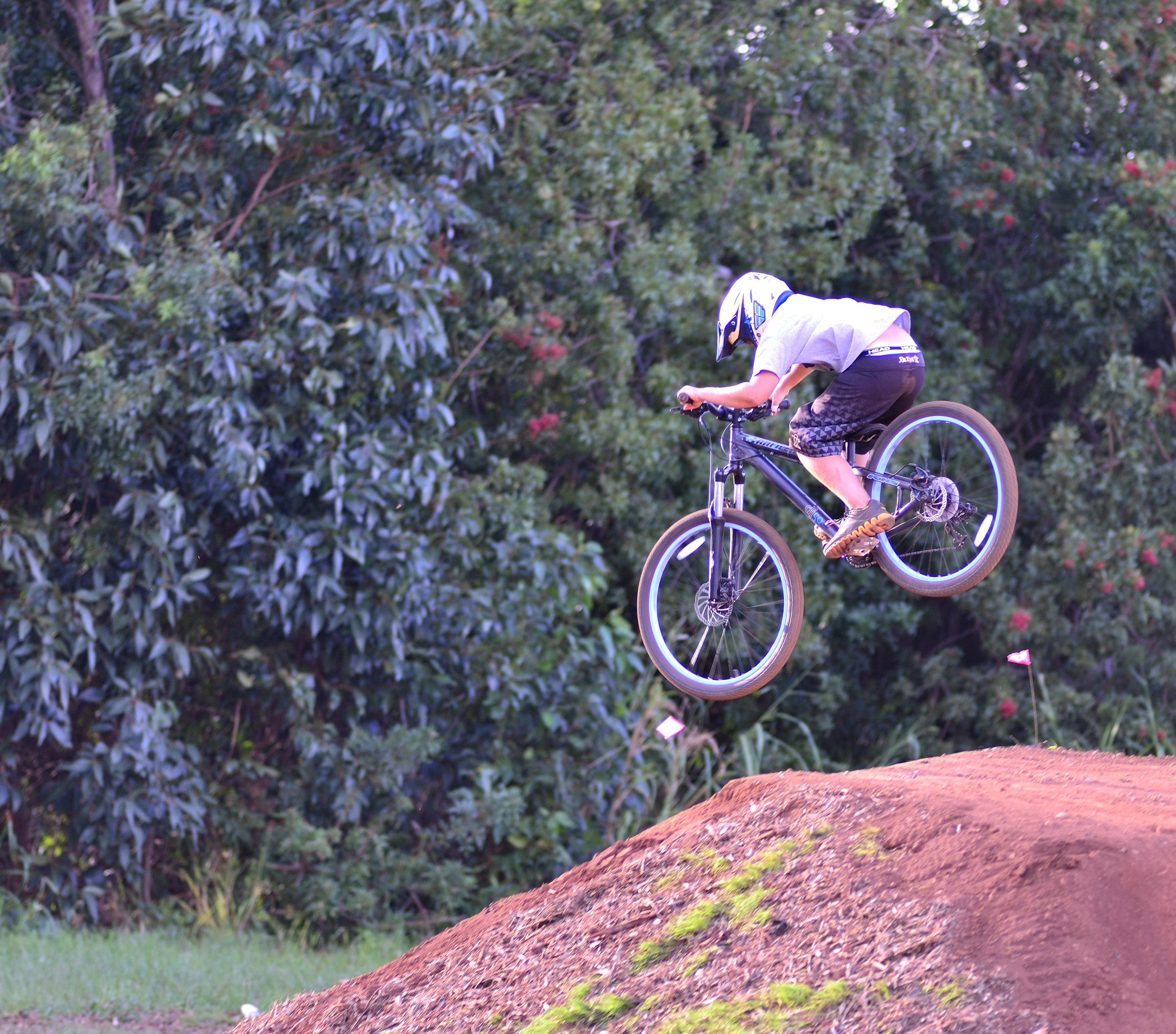 Bicycle riding on maui hawaii