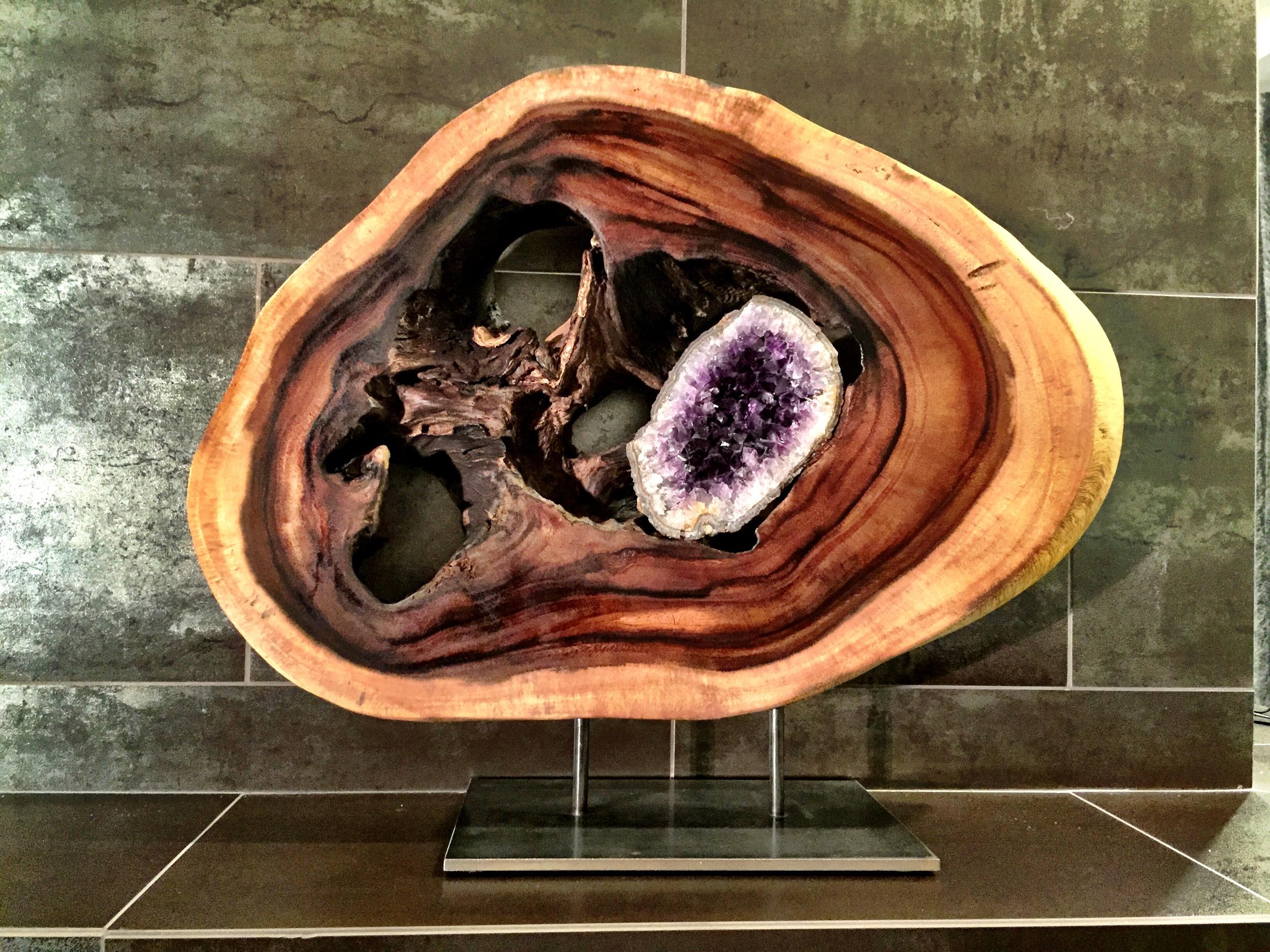 Third Eye_Acacia Wood_Amethyst_Geode_Steel - 21x22 in - $2900.JPG