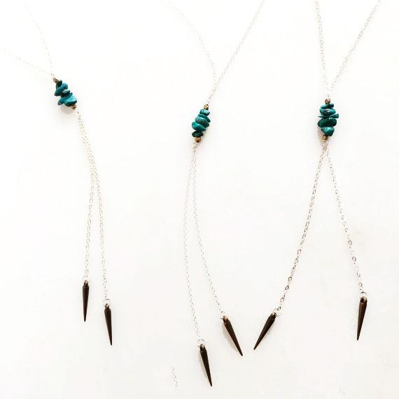 Bolo Gemstone Necklace
